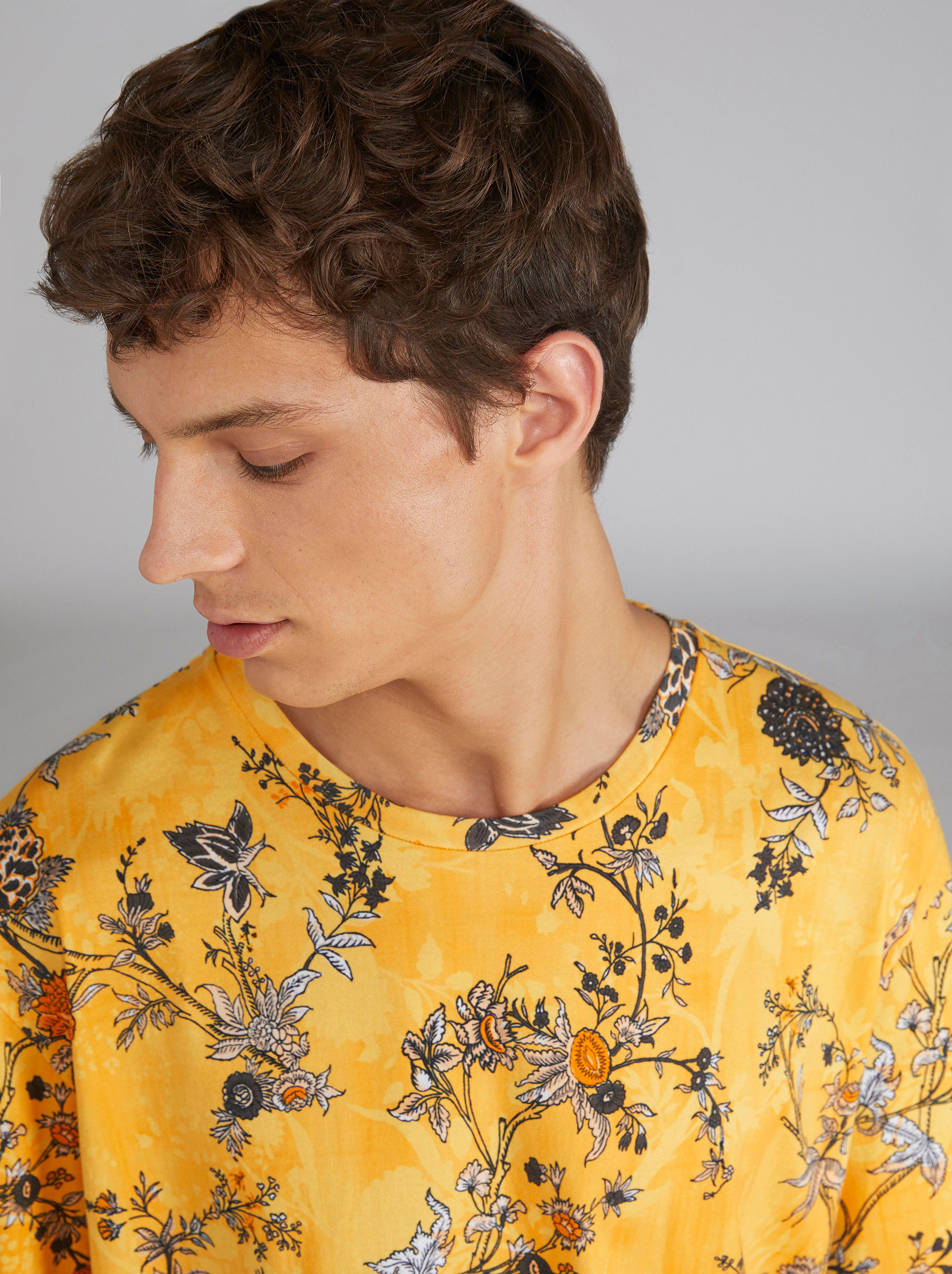 FLORAL PRINT COTTON T-SHIRT