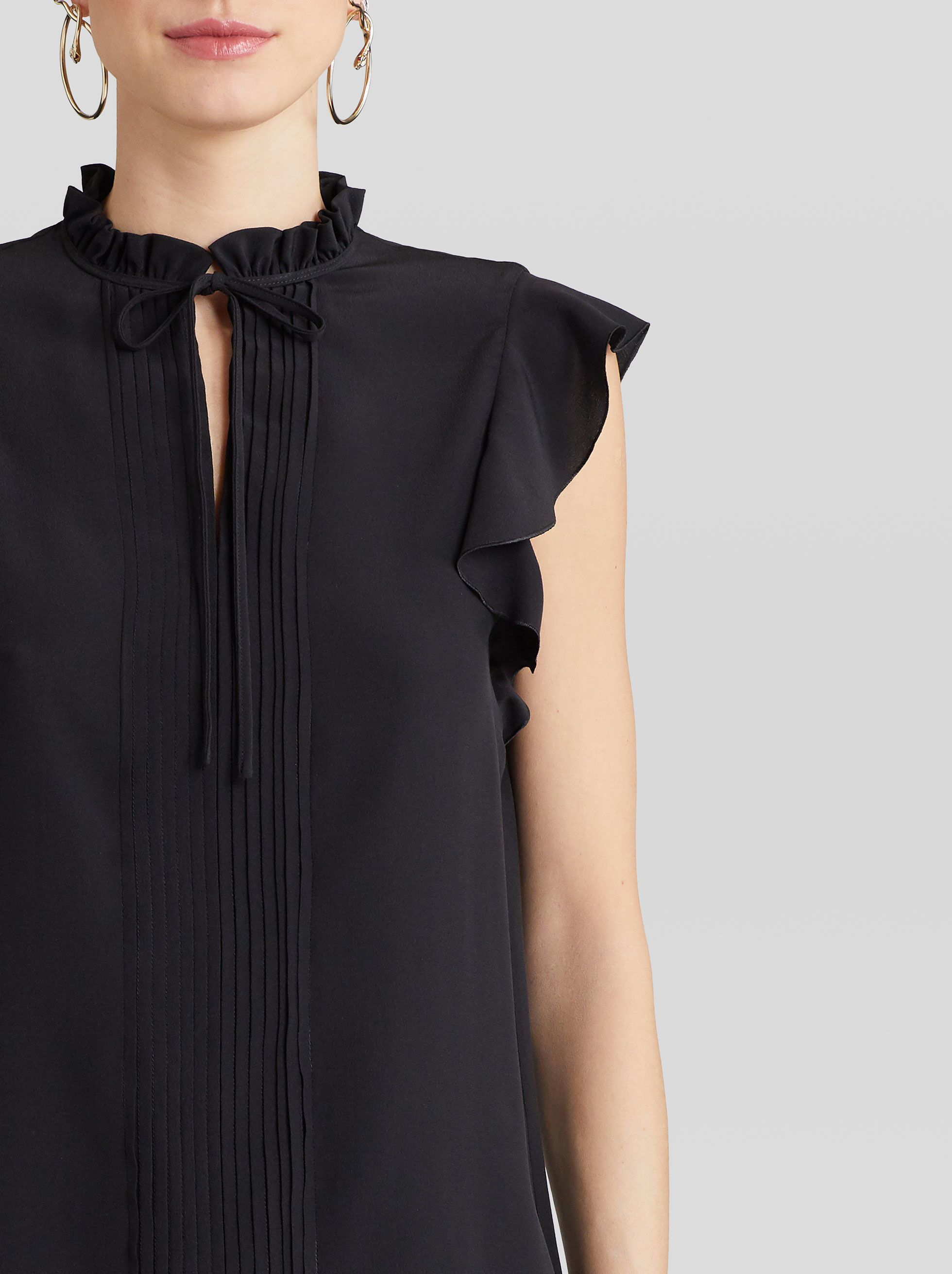 SILK TOP WITH RUCHES