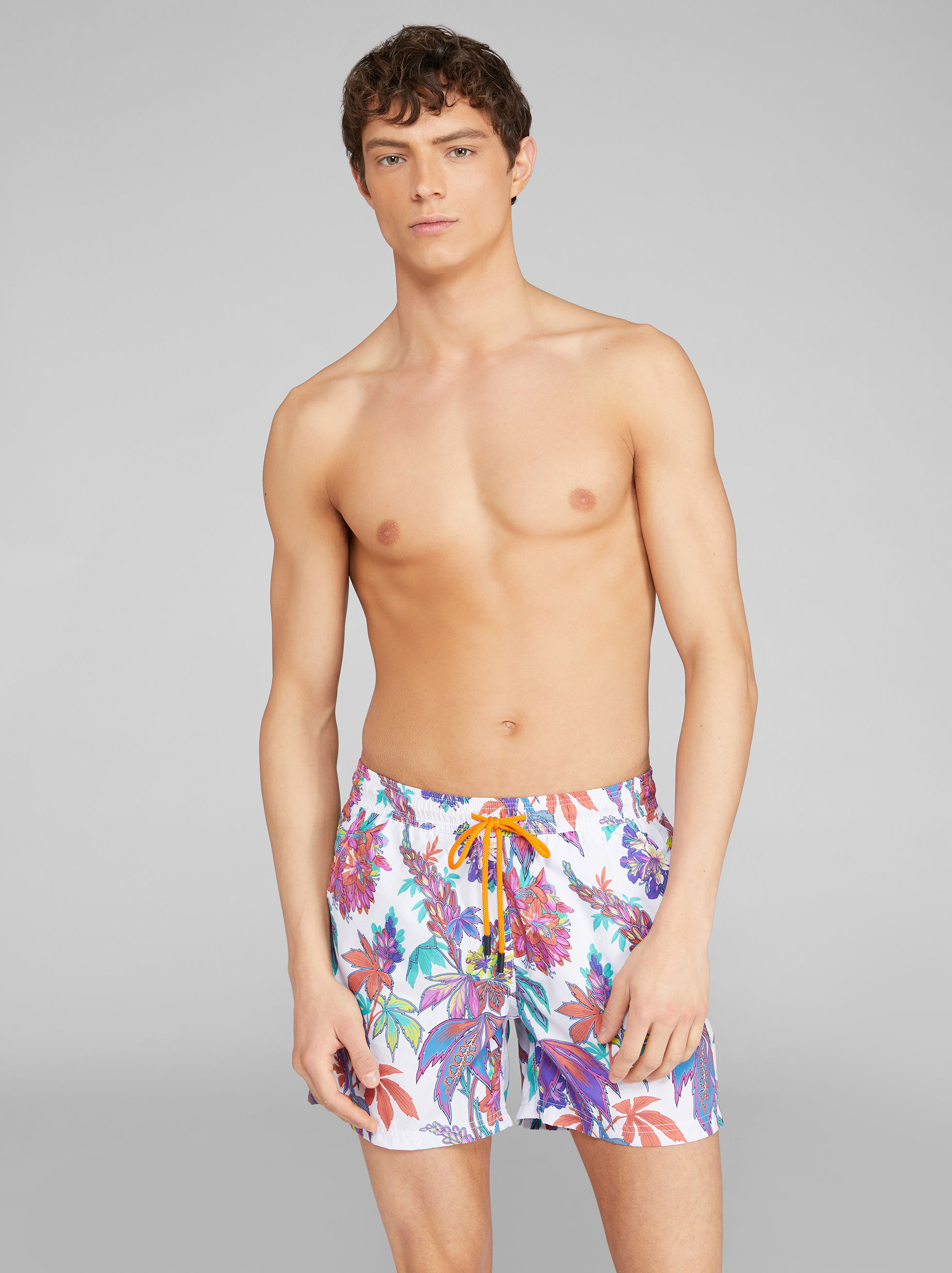 FLORAL PATTERN SWIM SHORTS