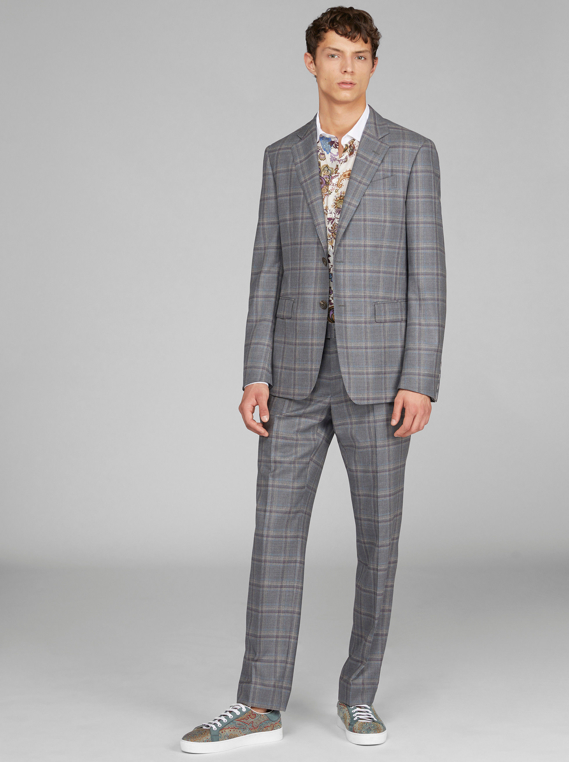CHECK WOOL SUIT