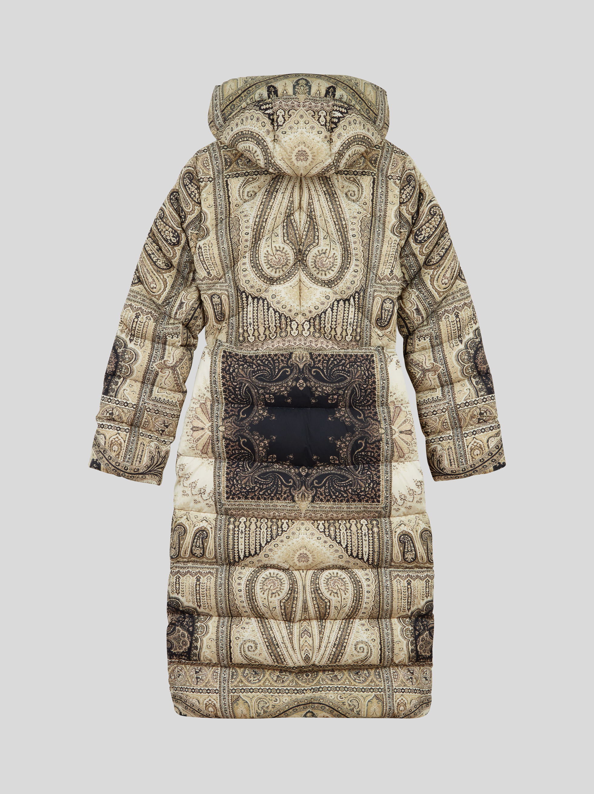 PAISLEY PRINT LONG DOWN COAT