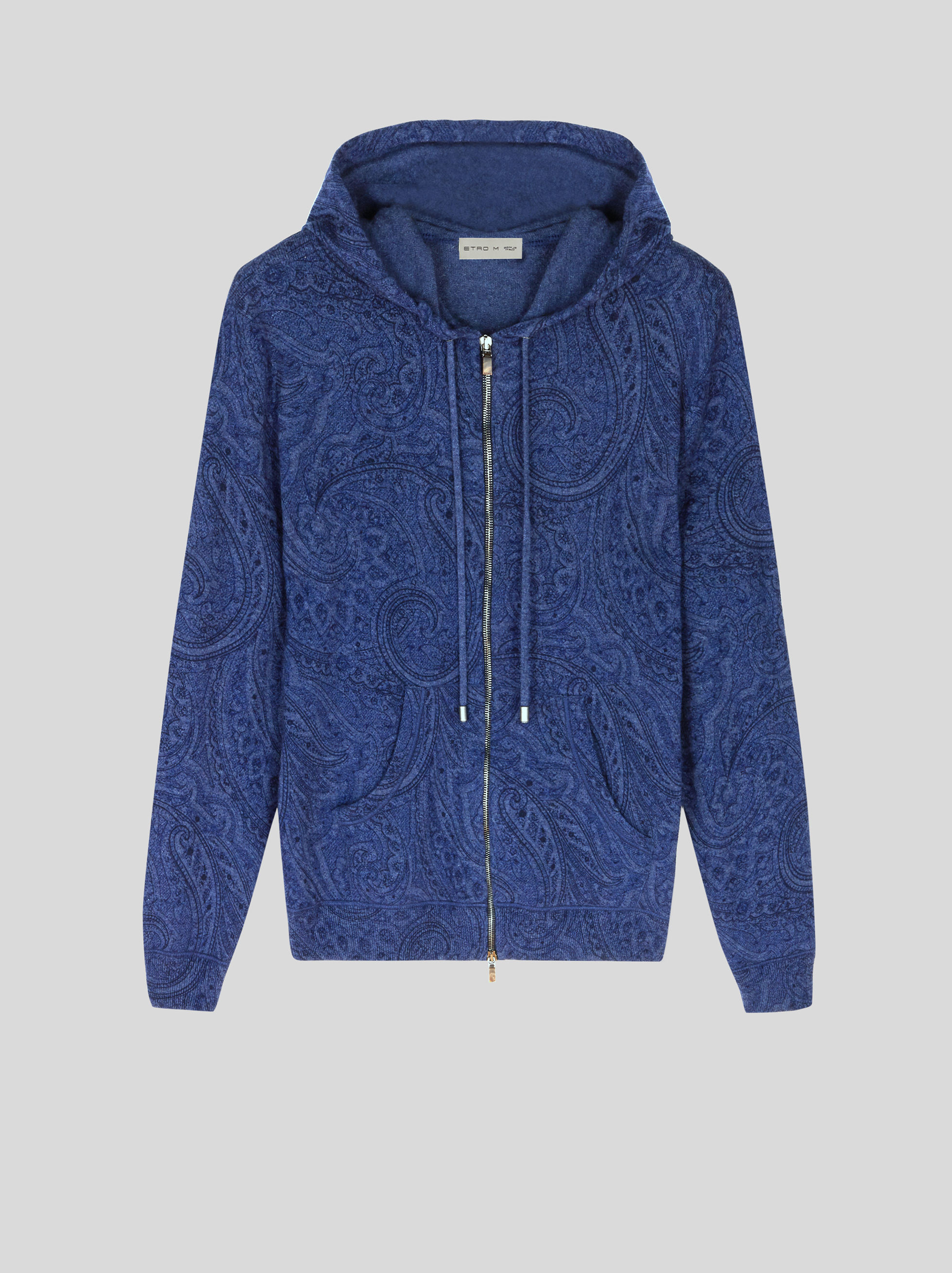 CASHMERE SWEATSHIRT WITH PAISLEY PRINT