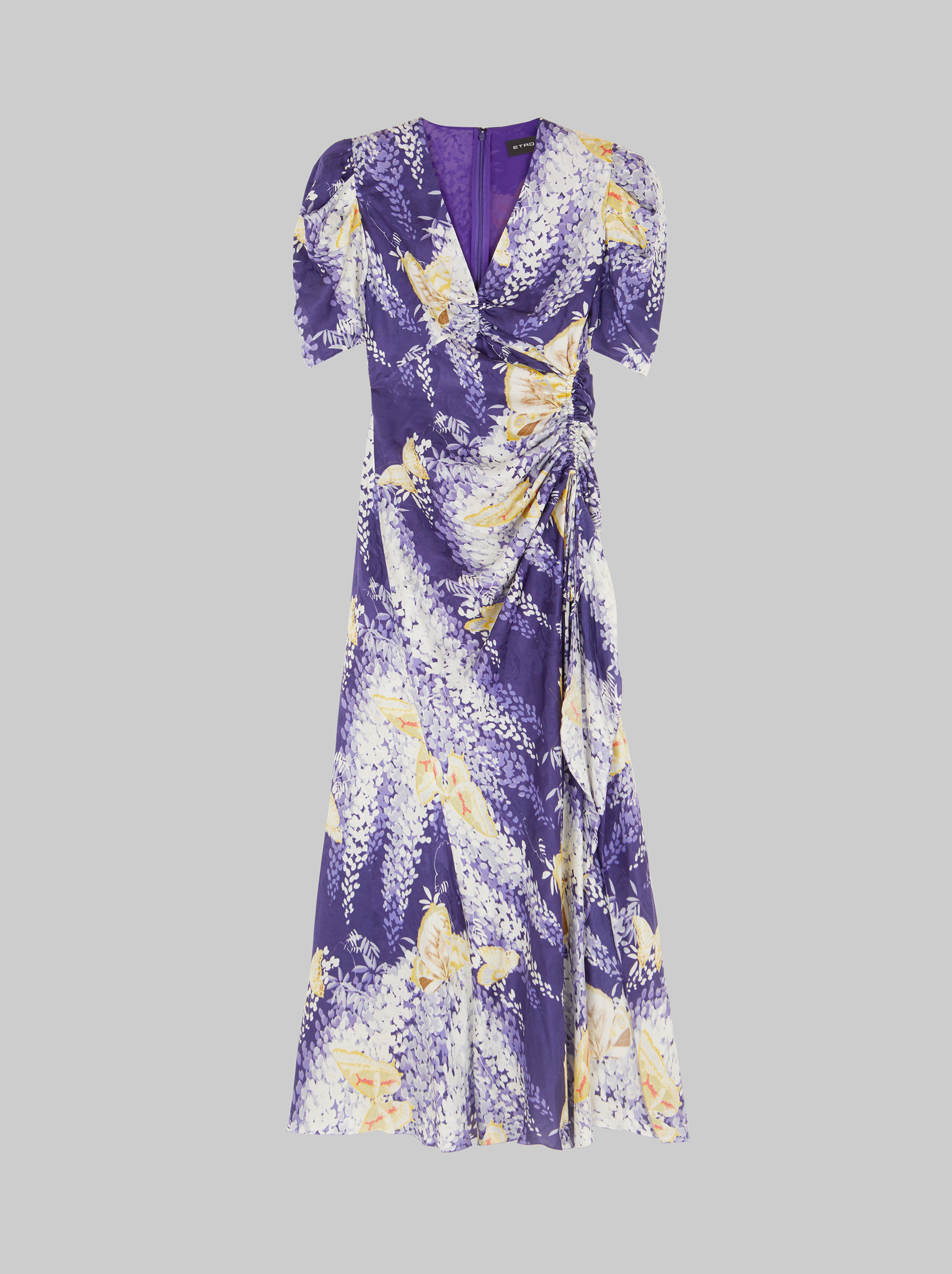 JACQUARD WISTERIA PRINT DRESS