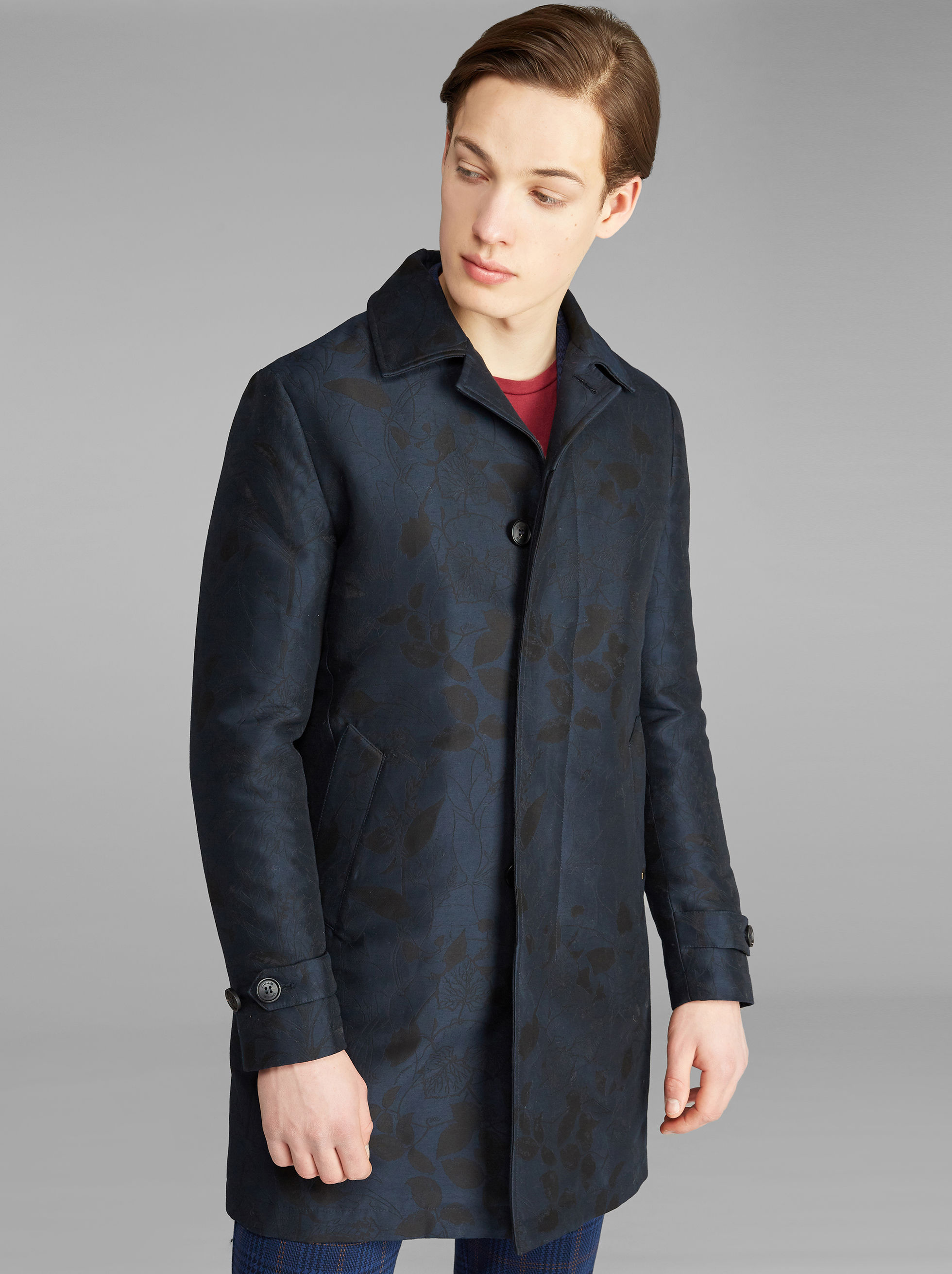 JACQUARD TRENCH COAT