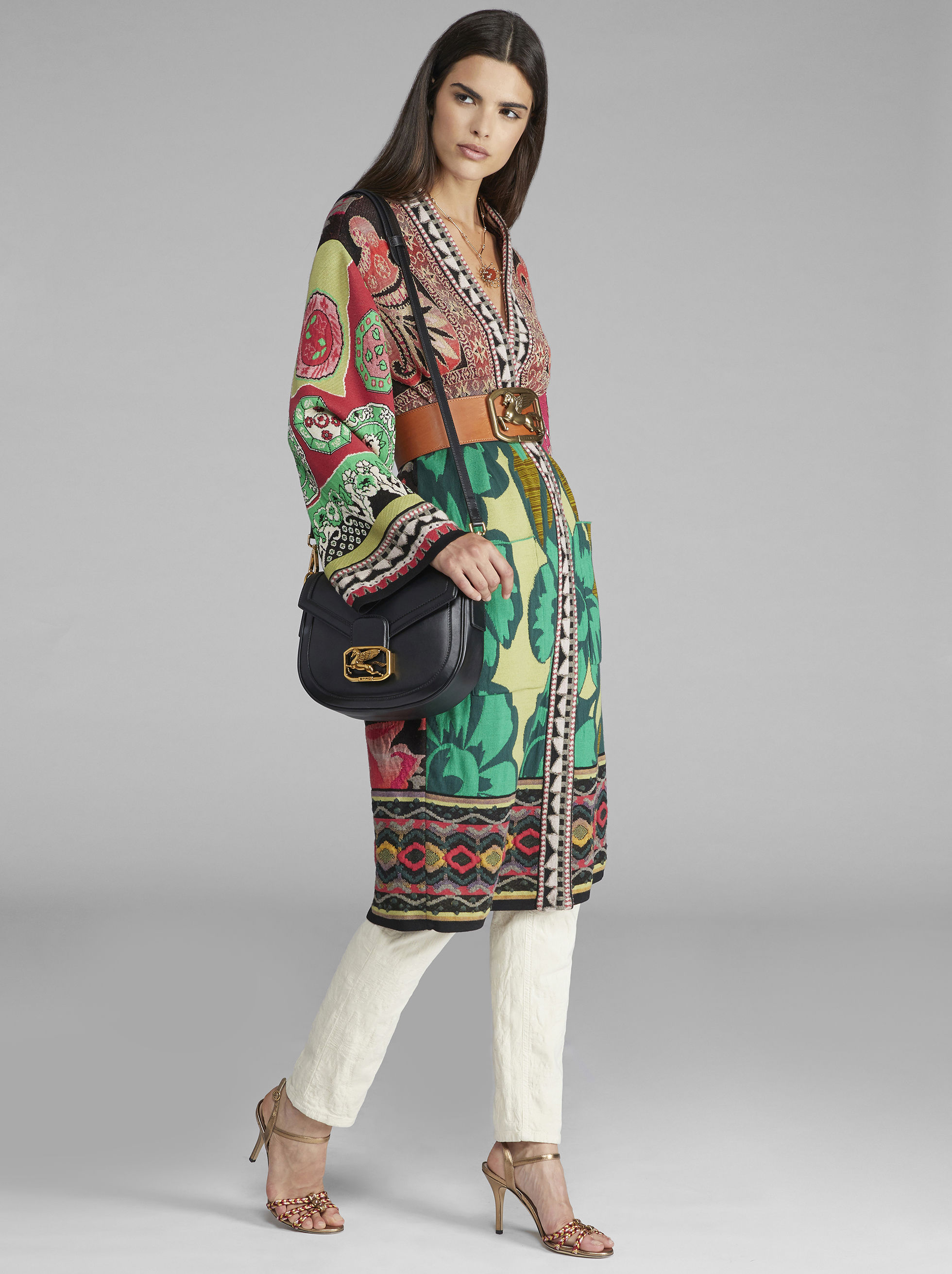 JACQUARD KNIT ROBE COAT