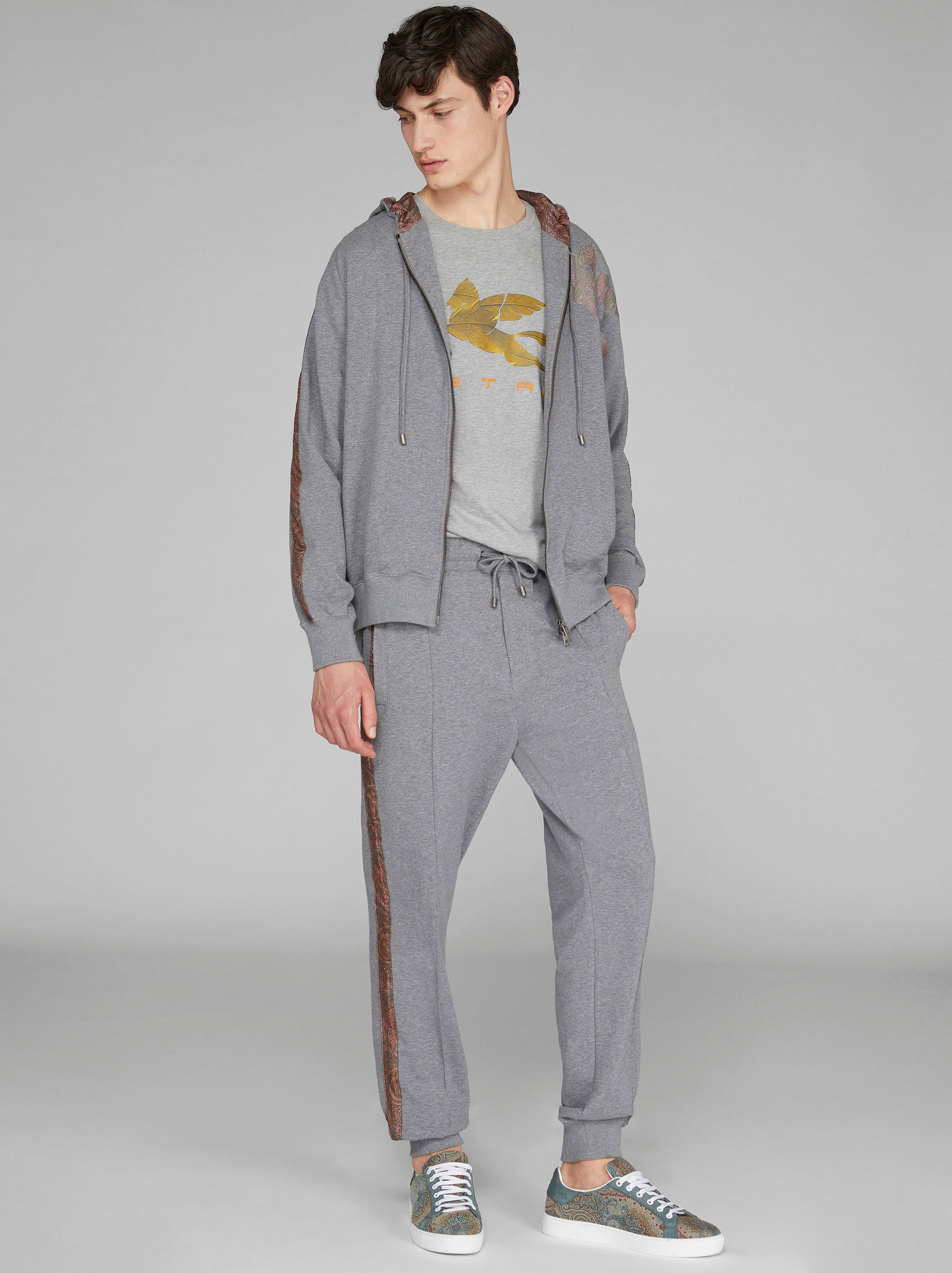 JOGGING TROUSERS WITH PAISLEY DETAILS
