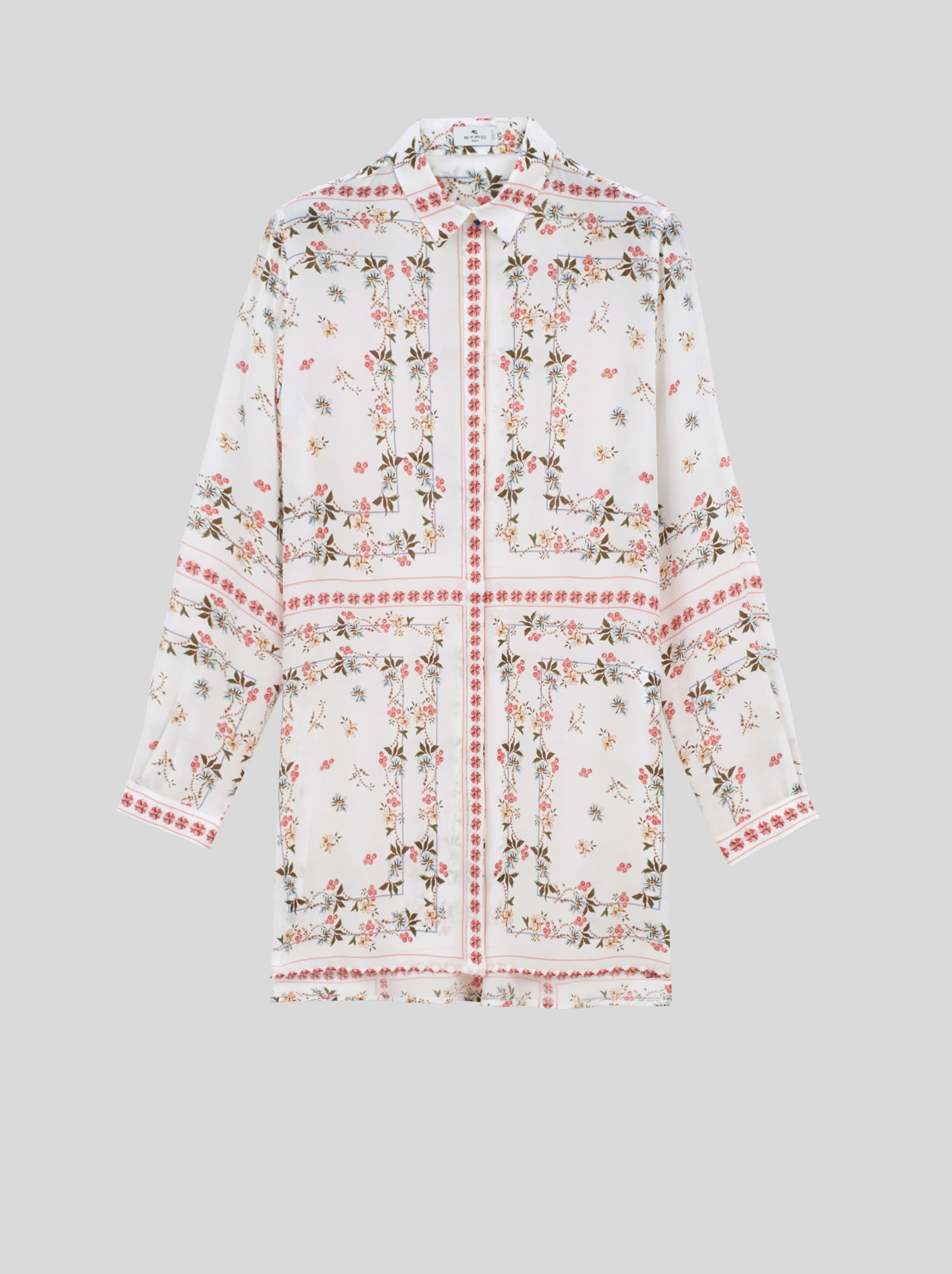 FLOWERED SILK SHIRT