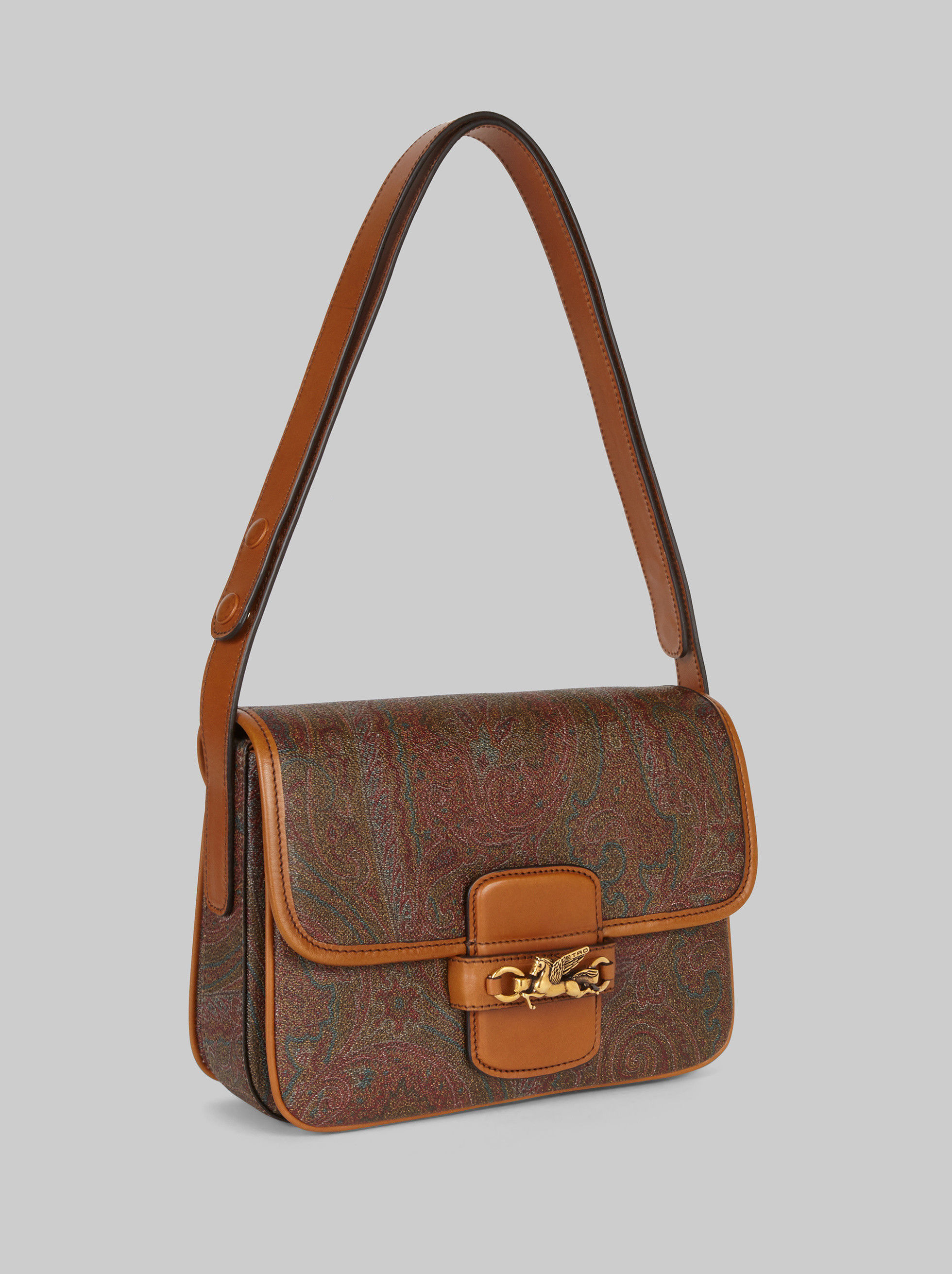 PAISLEY SHOULDER BAG WITH PEGASO