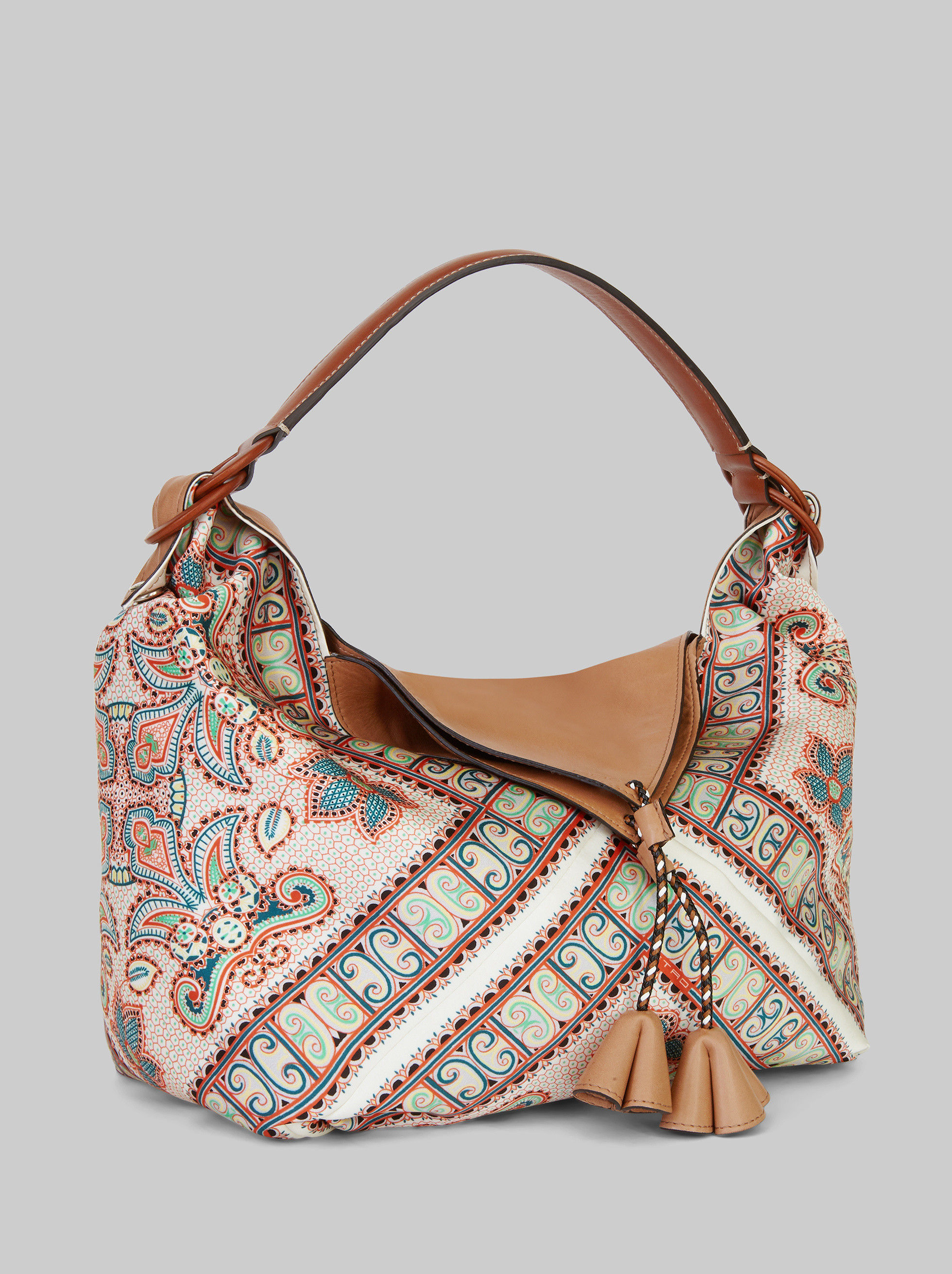 SATIN VOILÀ BAG WITH PAISLEY PRINT