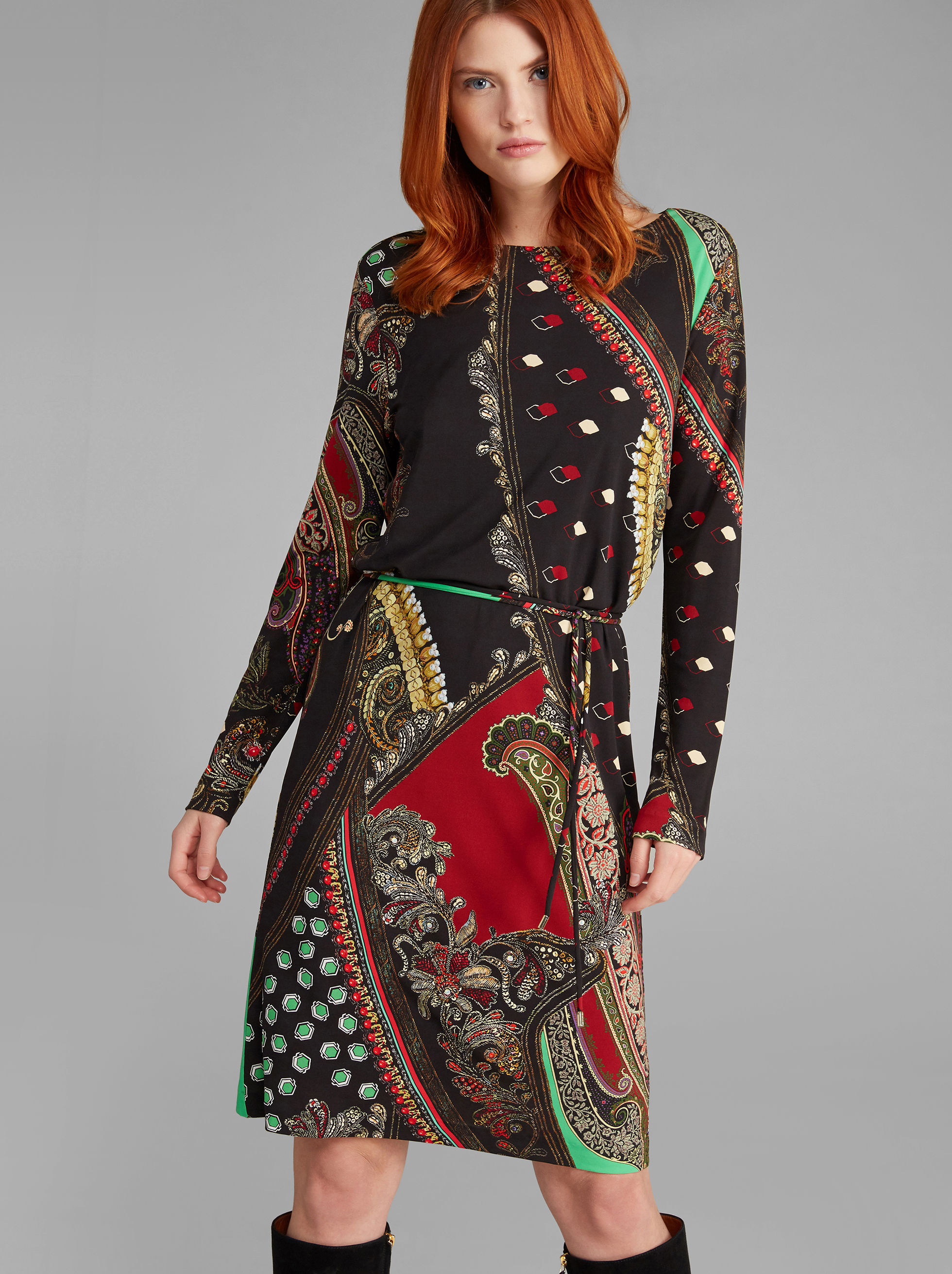 PATCHWORK-PRINT  DRESS
