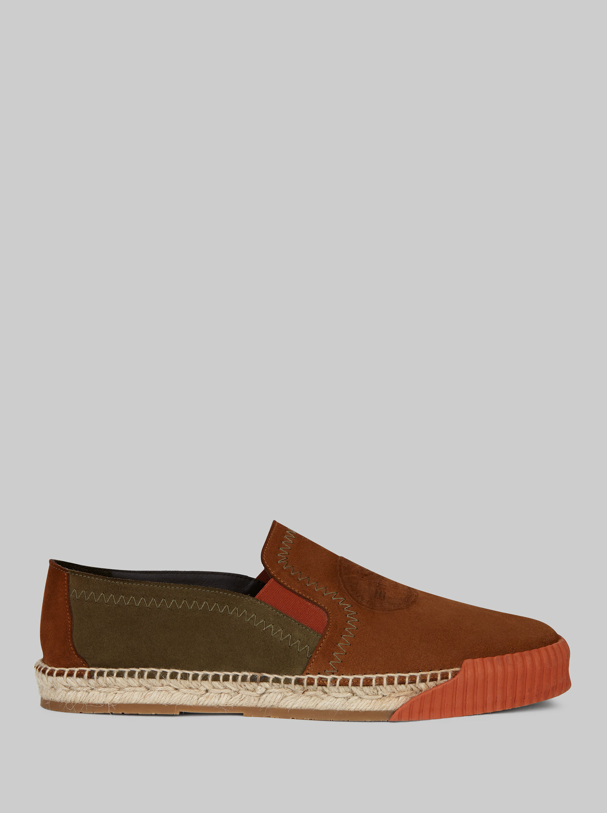 SUEDE SLIP-ON ESPADRILLES WITH LOGO