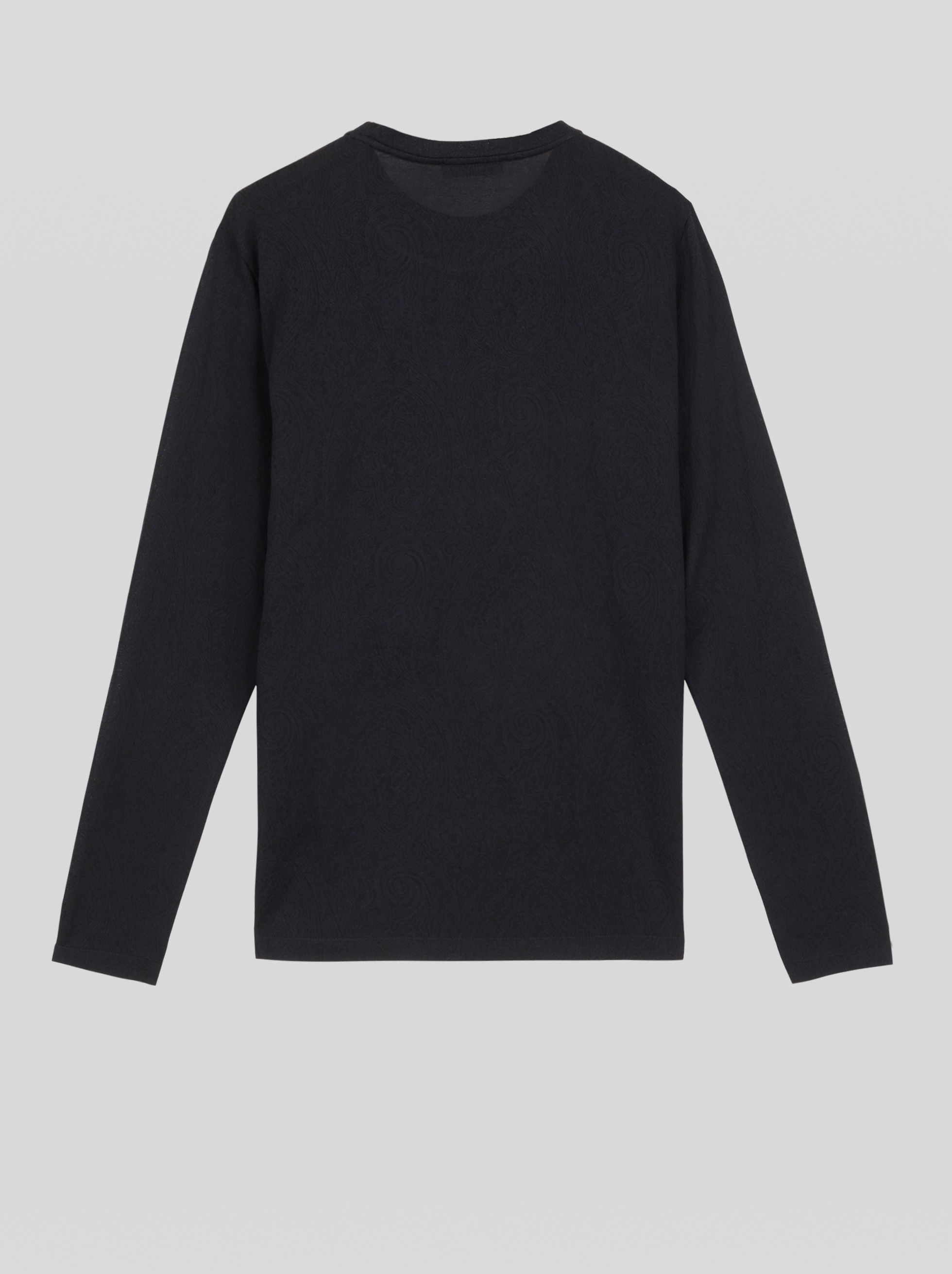 LONG-SLEEVED JACQUARD T-SHIRT