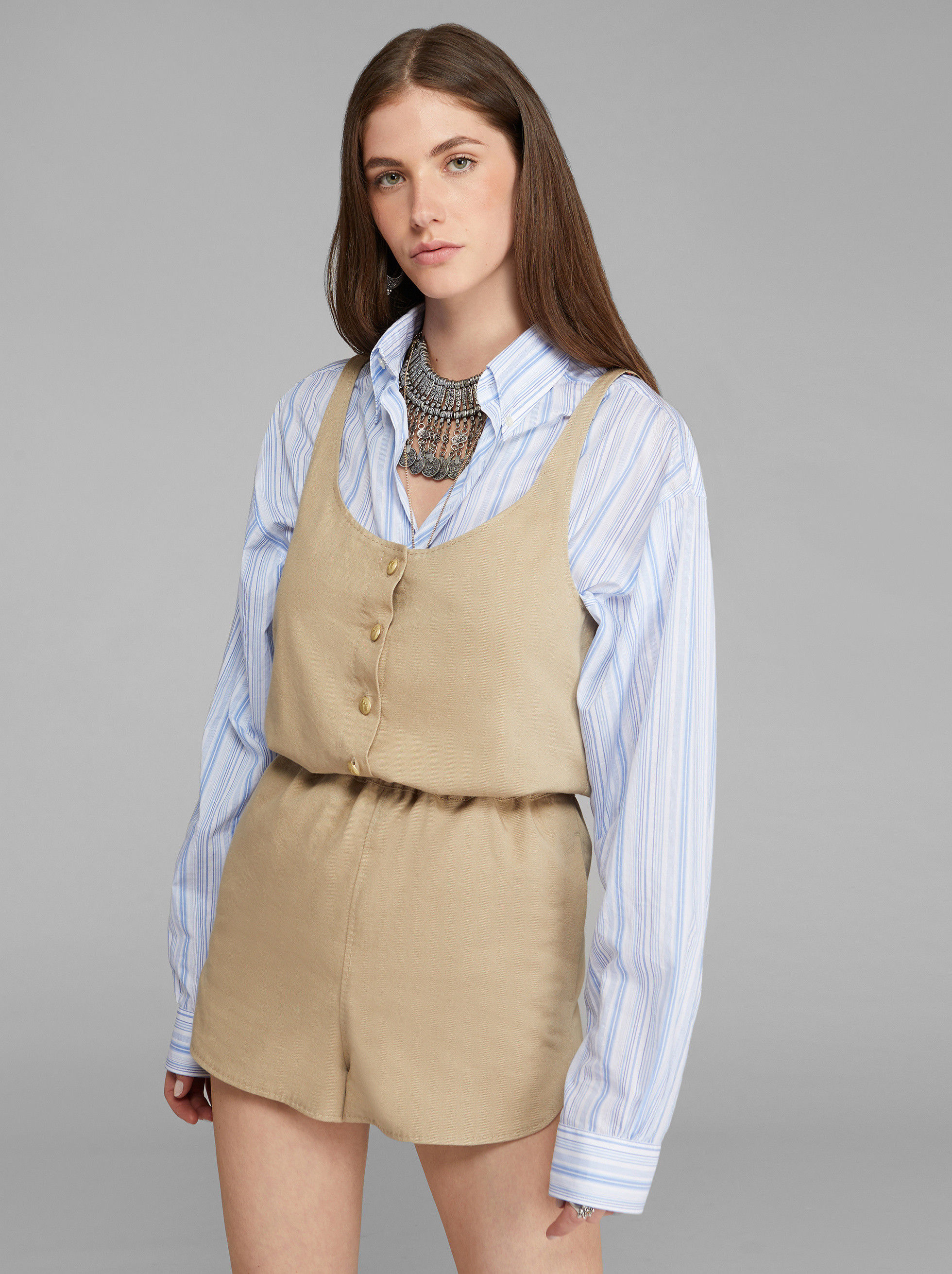 SHORT JUMPSUIT WITH PEGASO BUTTONS