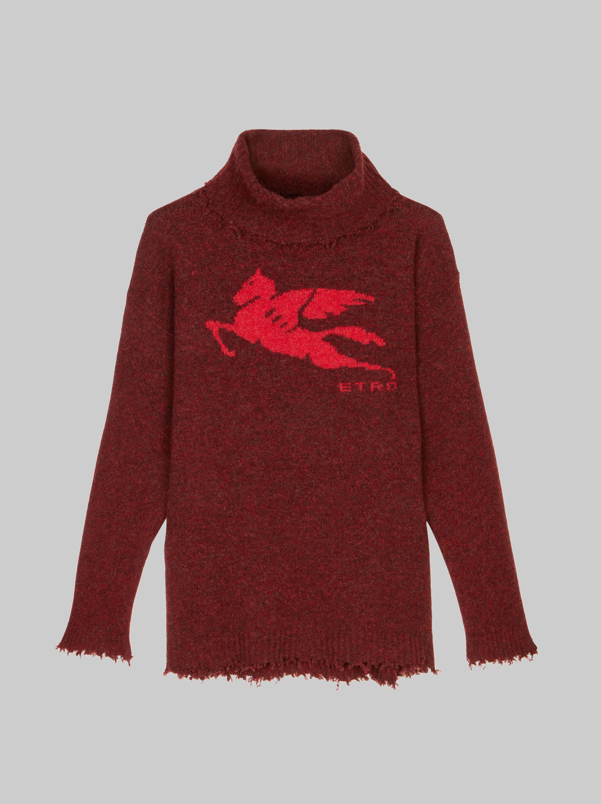 TURTLENECK JUMPER WITH INLAYS