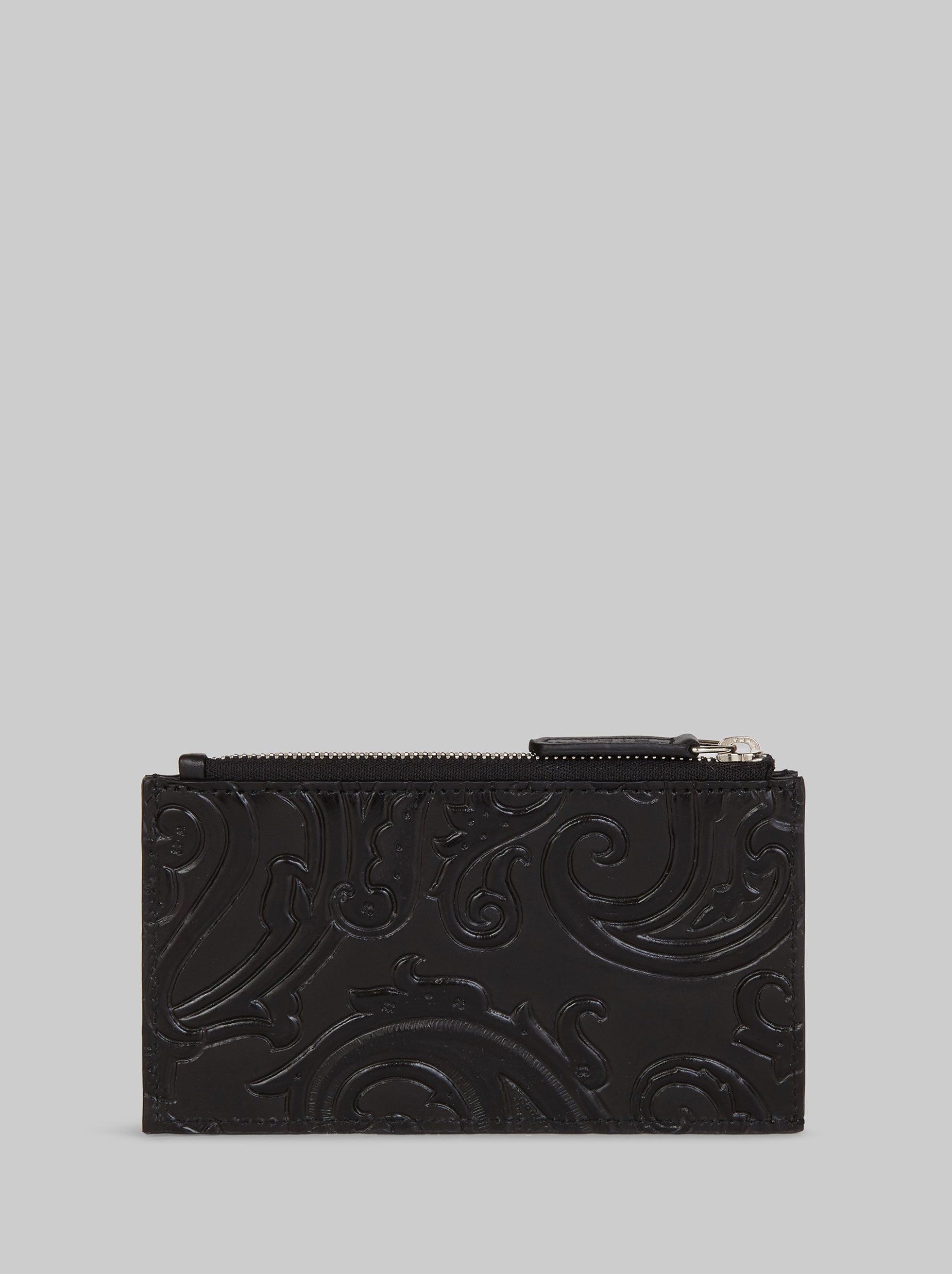 PAISLEY PRINT LEATHER CARD HOLDER