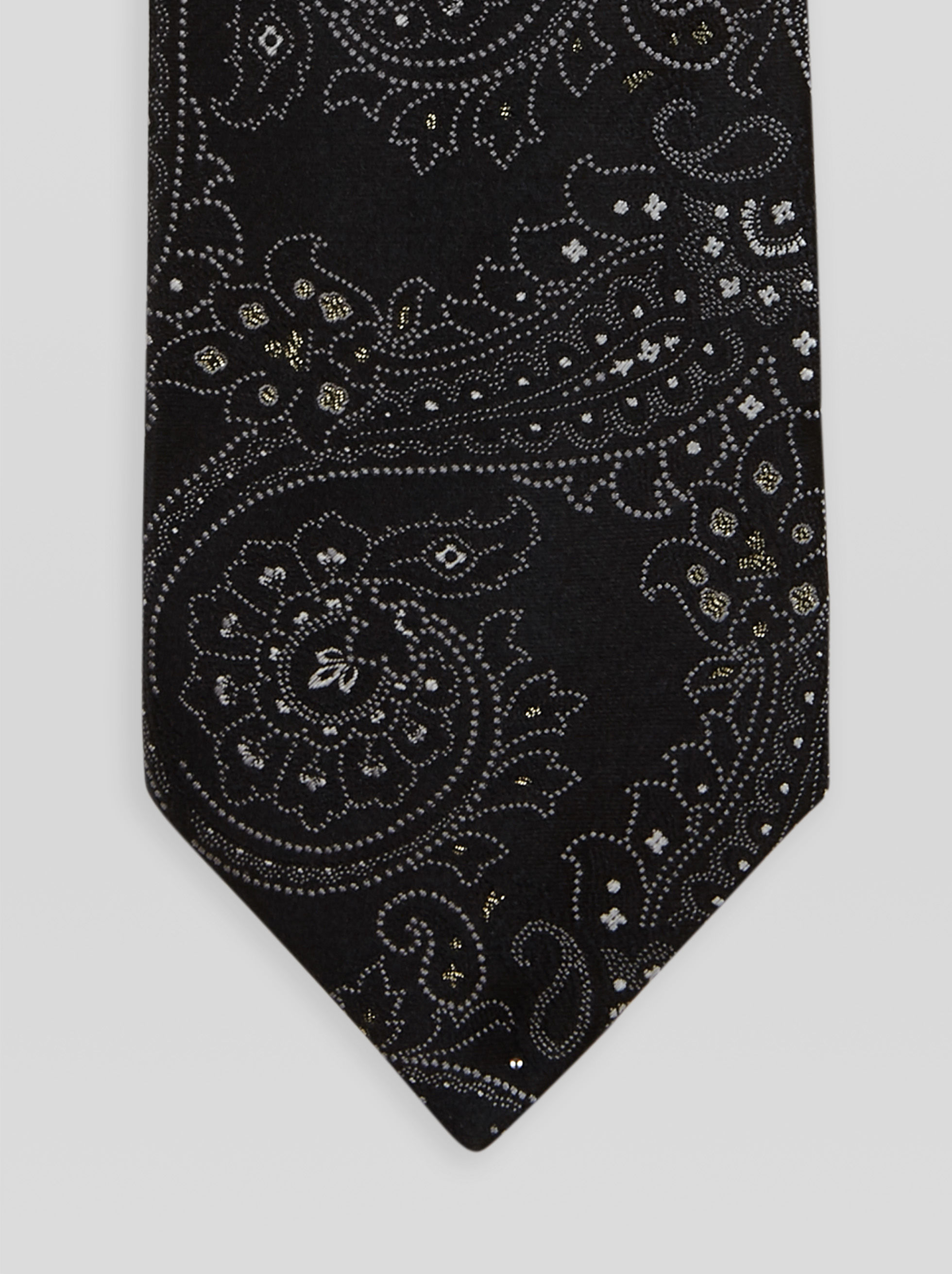 JACQUARD TIE WITH LUREX DETAILS