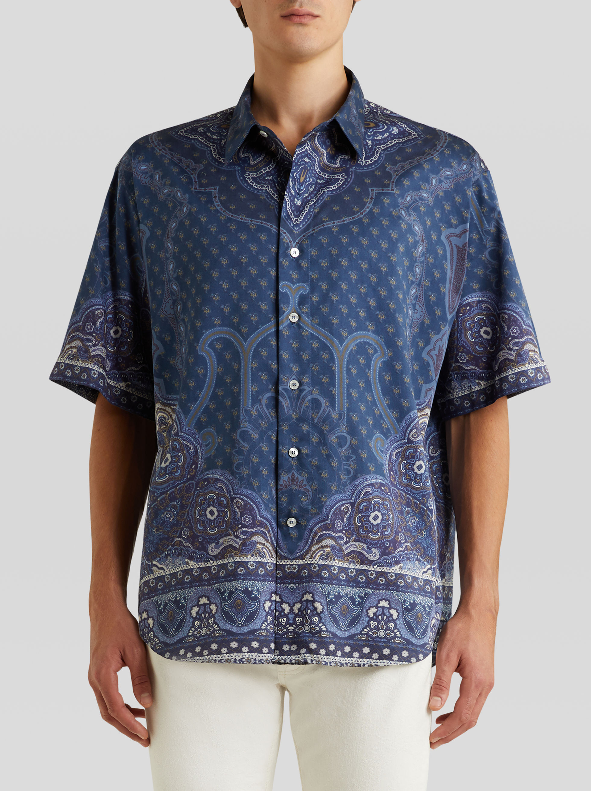 Etro Cottons PRINTED SHORT-SLEEVED SHIRT
