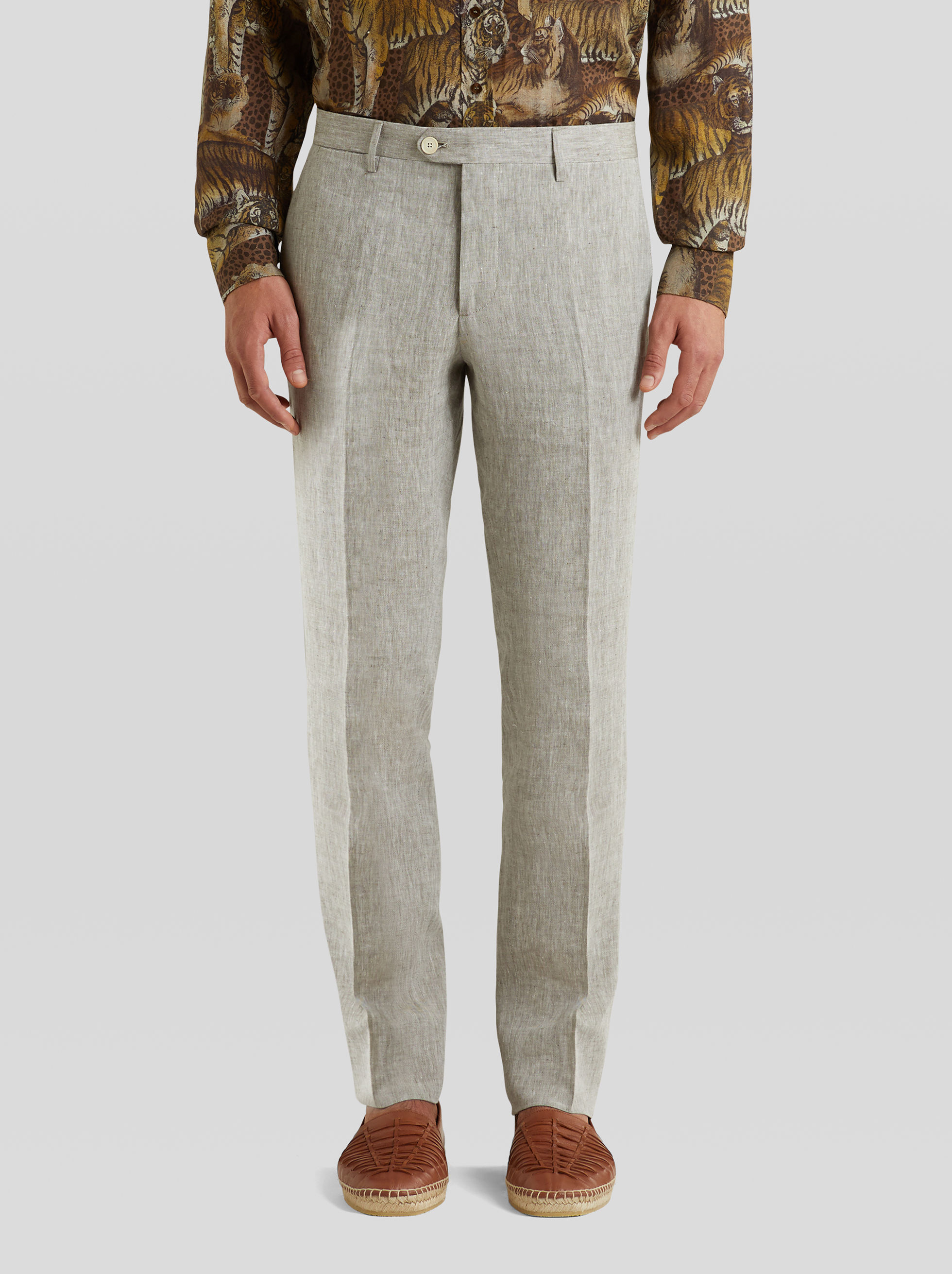 TAILORED TROUSERS IN LINEN