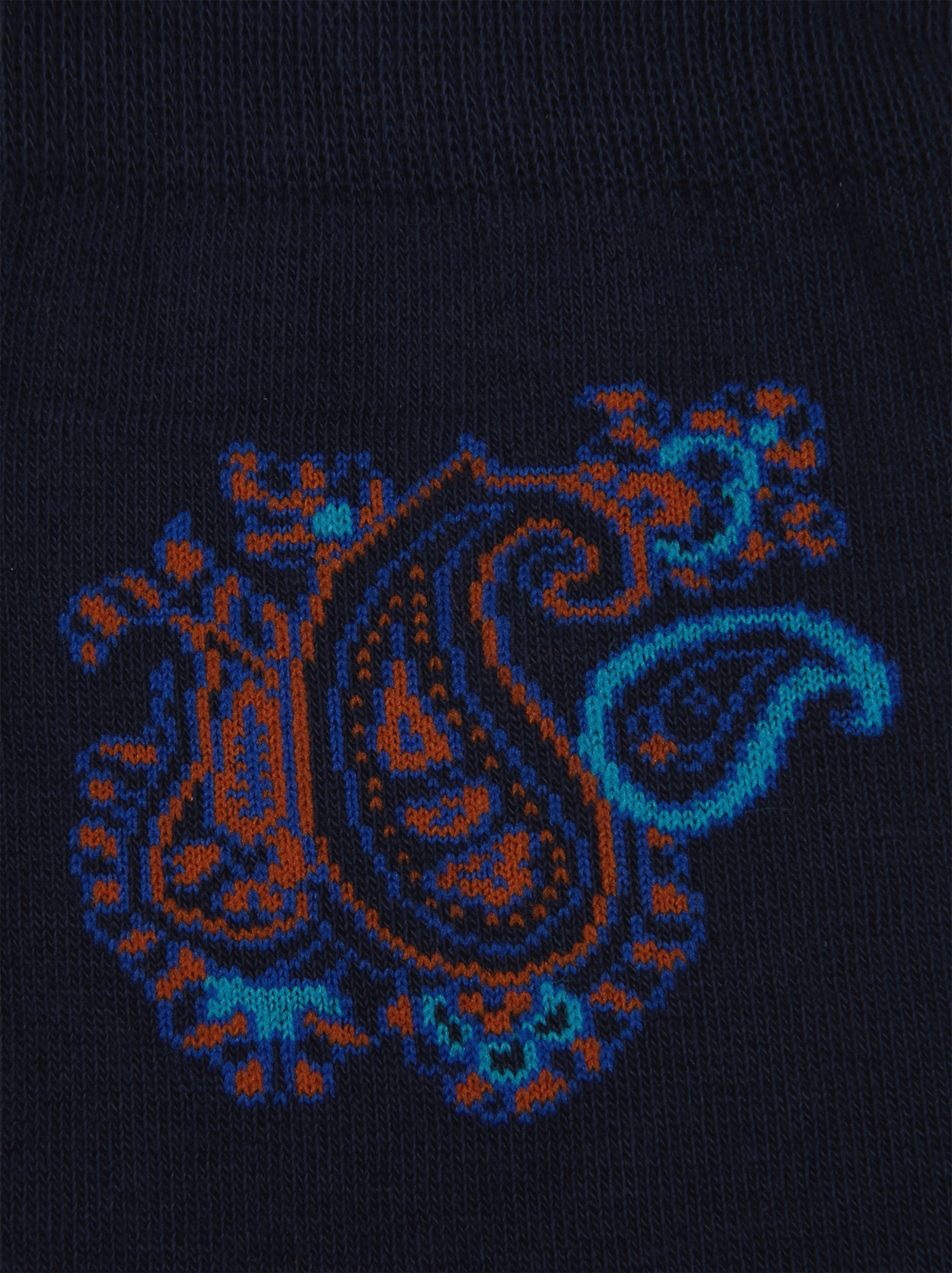 COTTON ANKLE SOCKS WITH PAISLEY