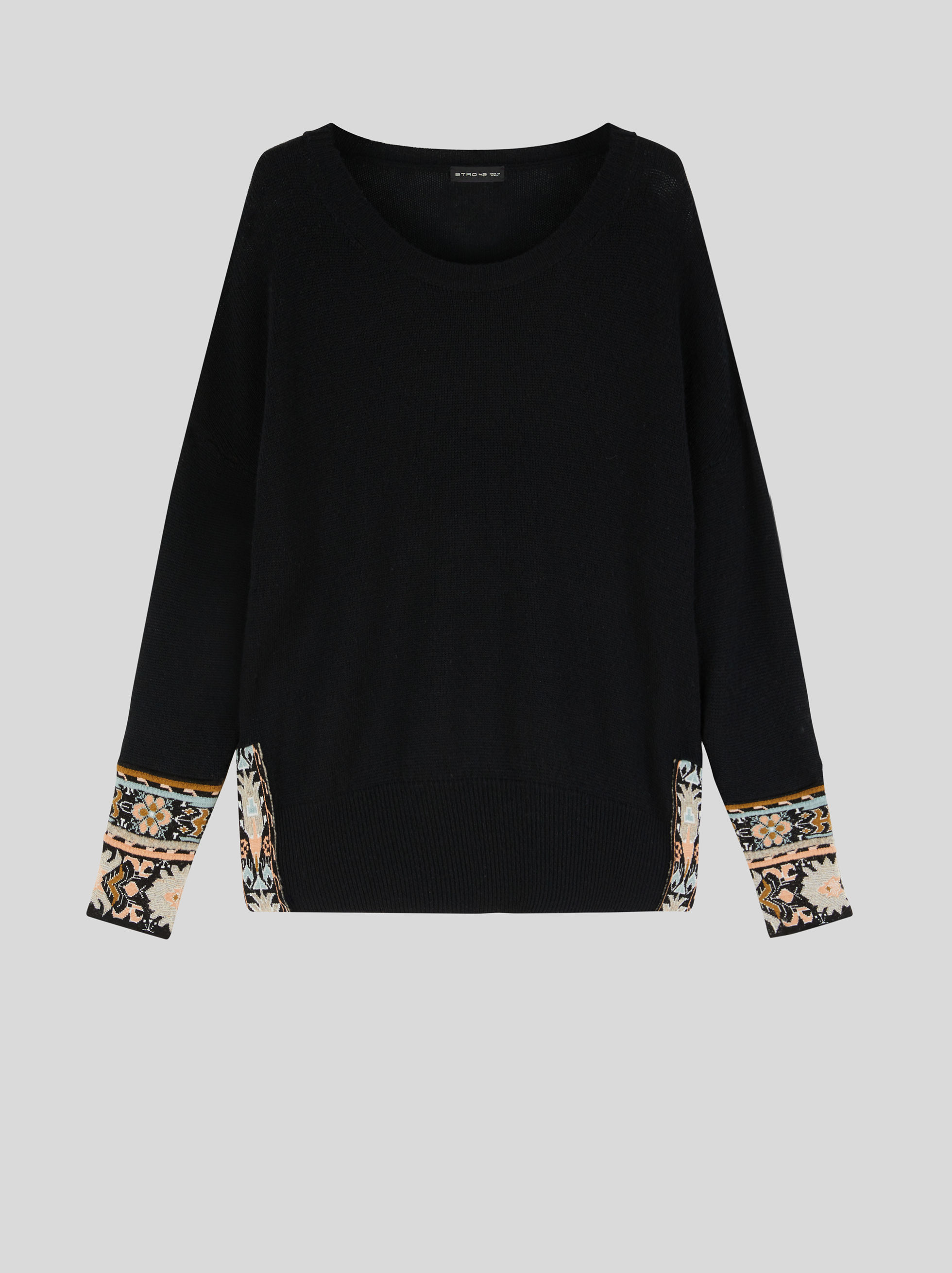 JUMPER WITH FLORAL JACQUARD PATTERNS