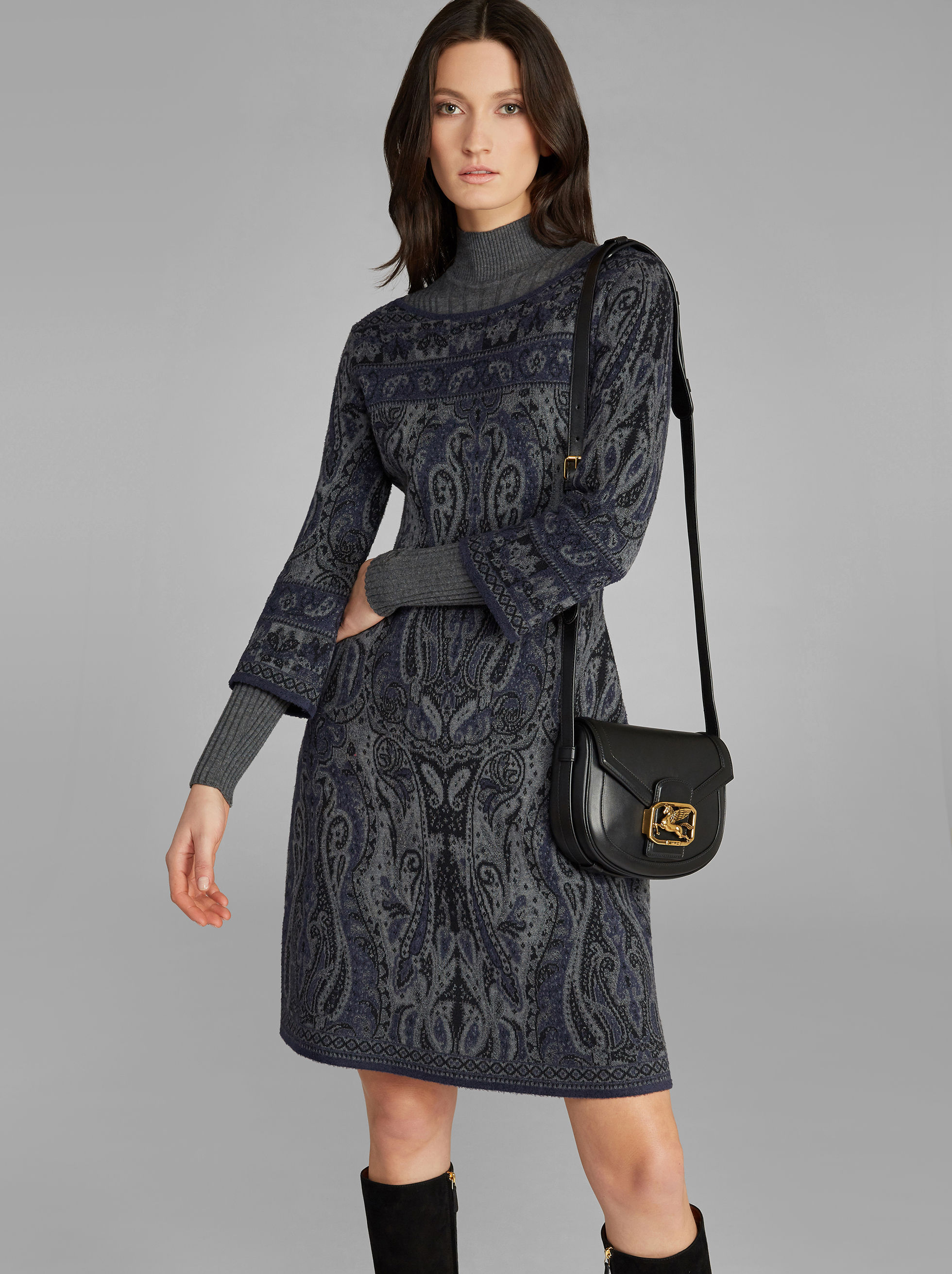 PAISLEY KNITTED DRESS
