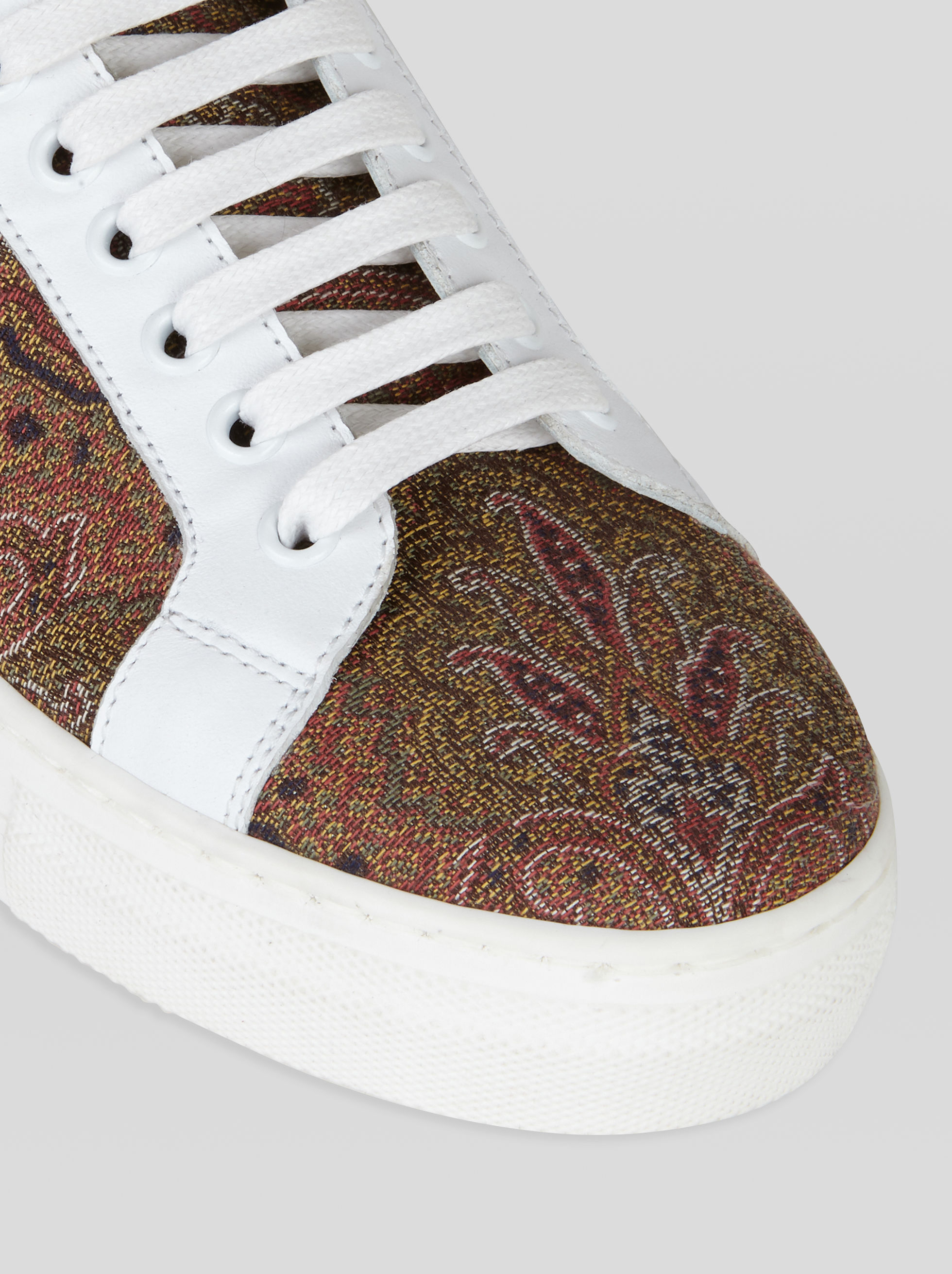 PAISLEY SNEAKERS WITH FLUO DETAILS