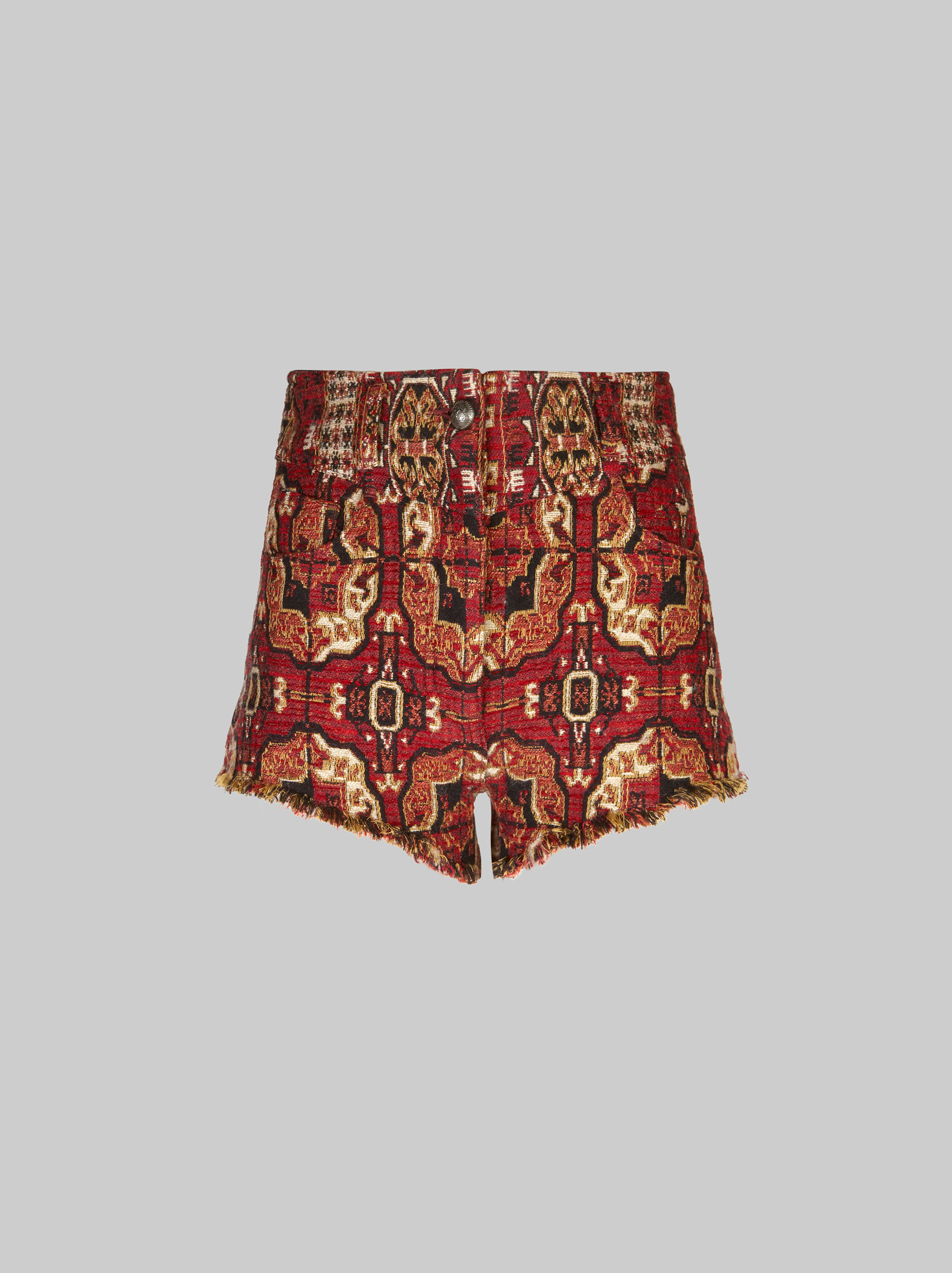 JACQUARD DENIM SHORTS