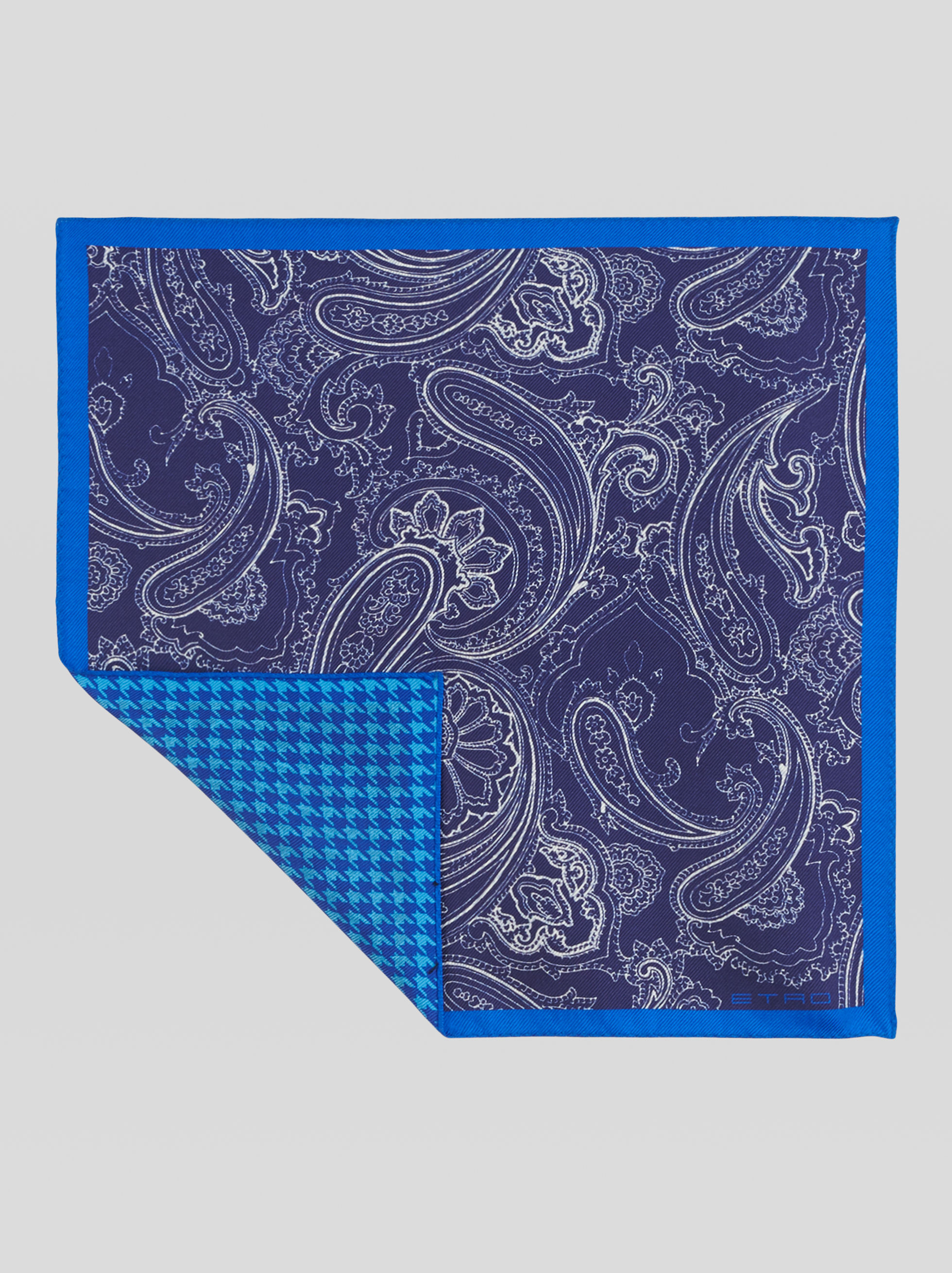 POCKET SQUARE WITH DOUBLE PRINT