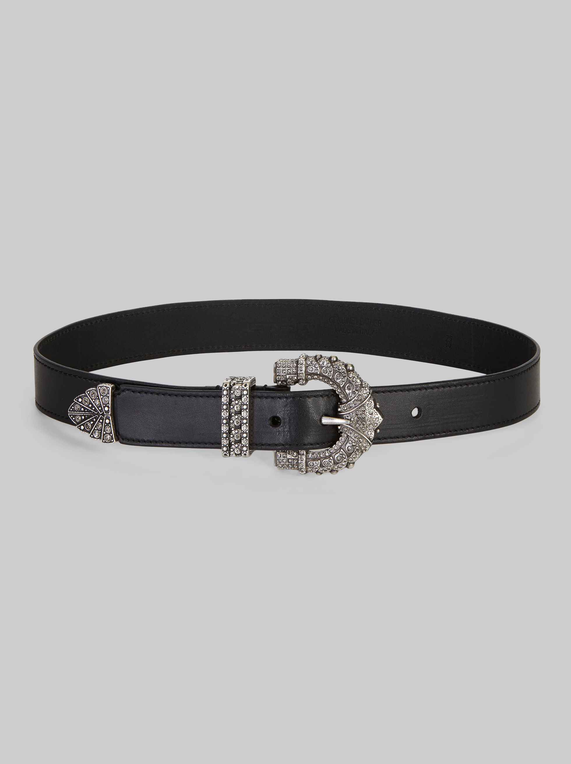 BELT WITH JEWELED BUCKLE