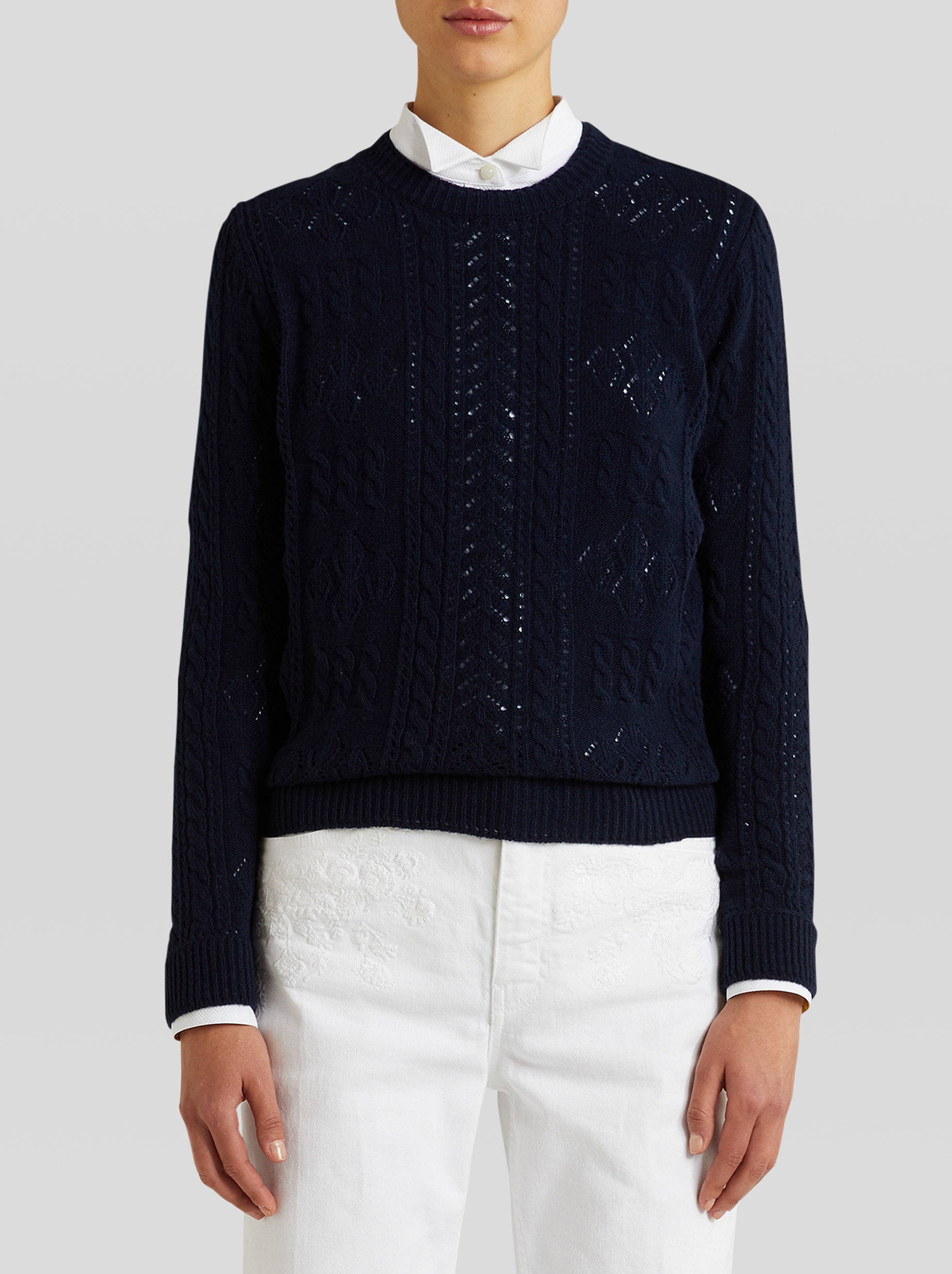 OPENWORK WOOL JUMPER