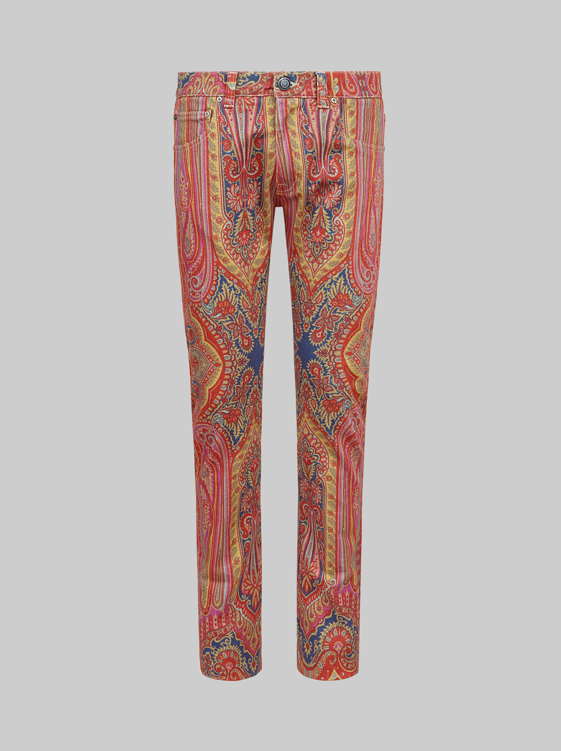 PAISLEY PLACED PRINT JEANS