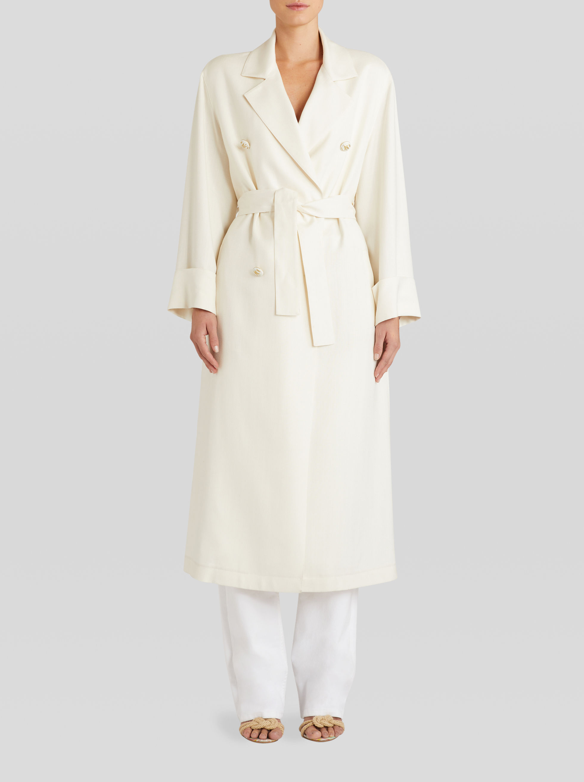 TRENCHCOAT WITH PEGASO BUTTONS