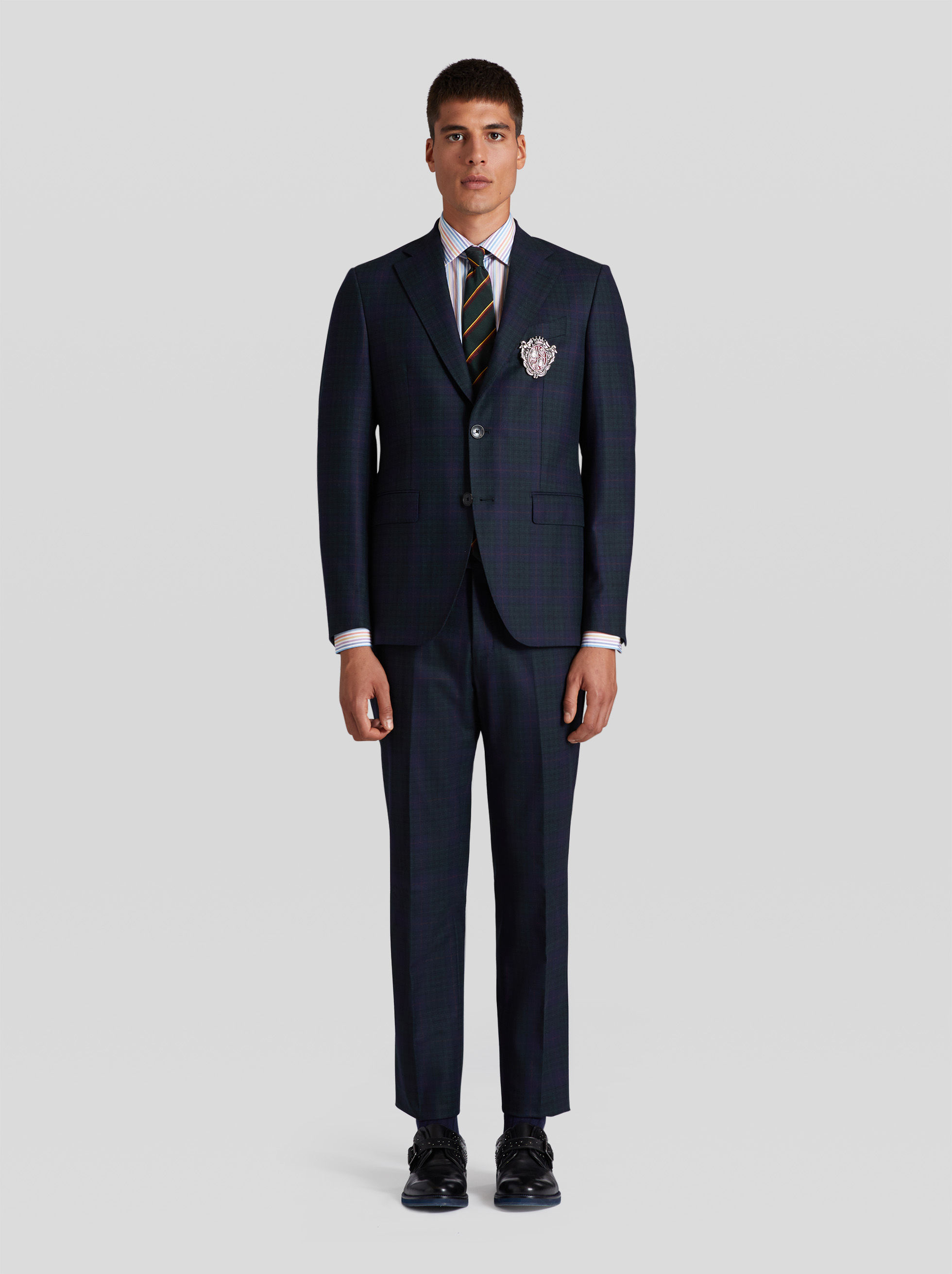 CHECK DESIGN TAILORED SUIT