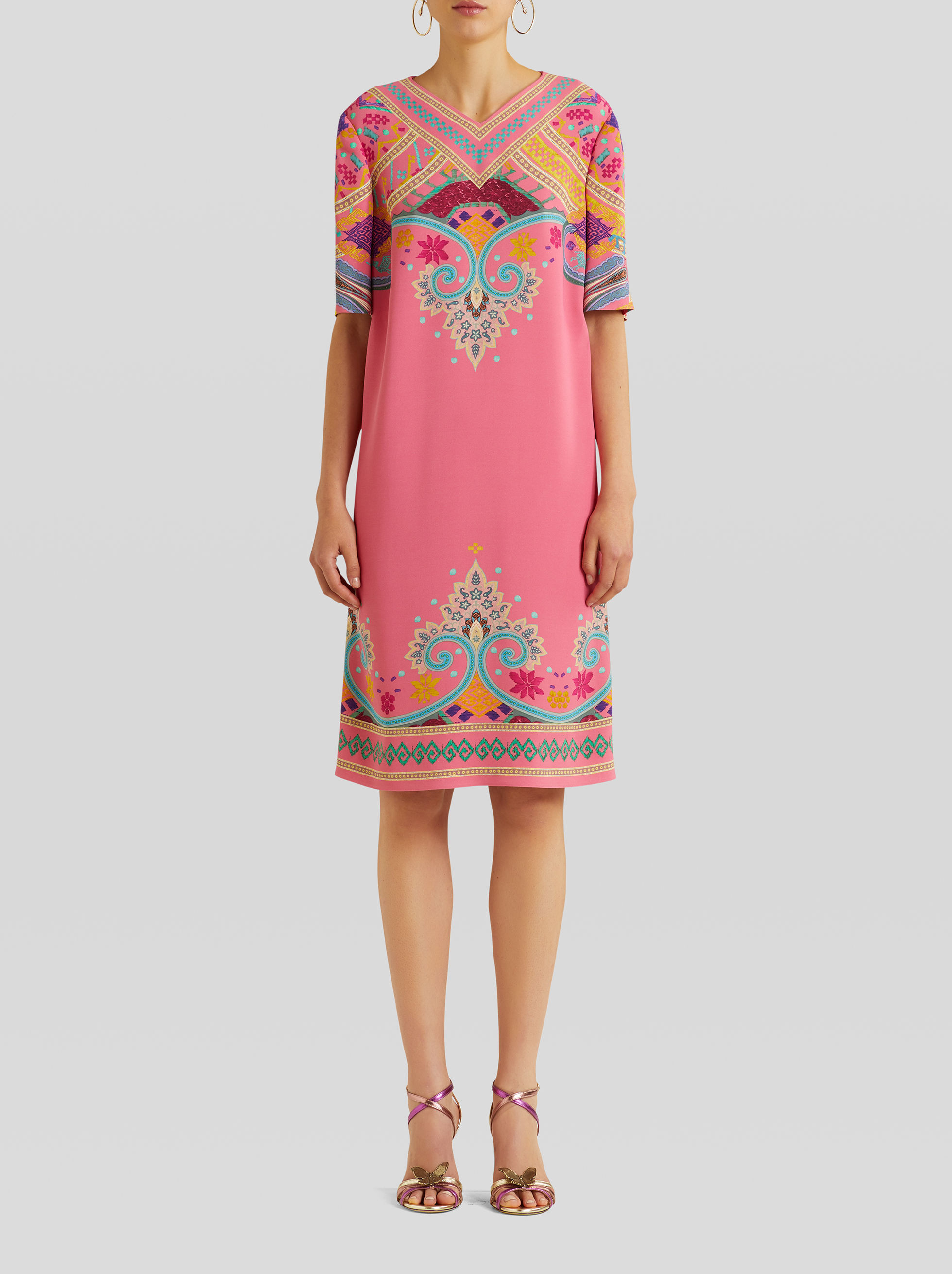 NAÏF PAISLEY PRINT TUNIC DRESS