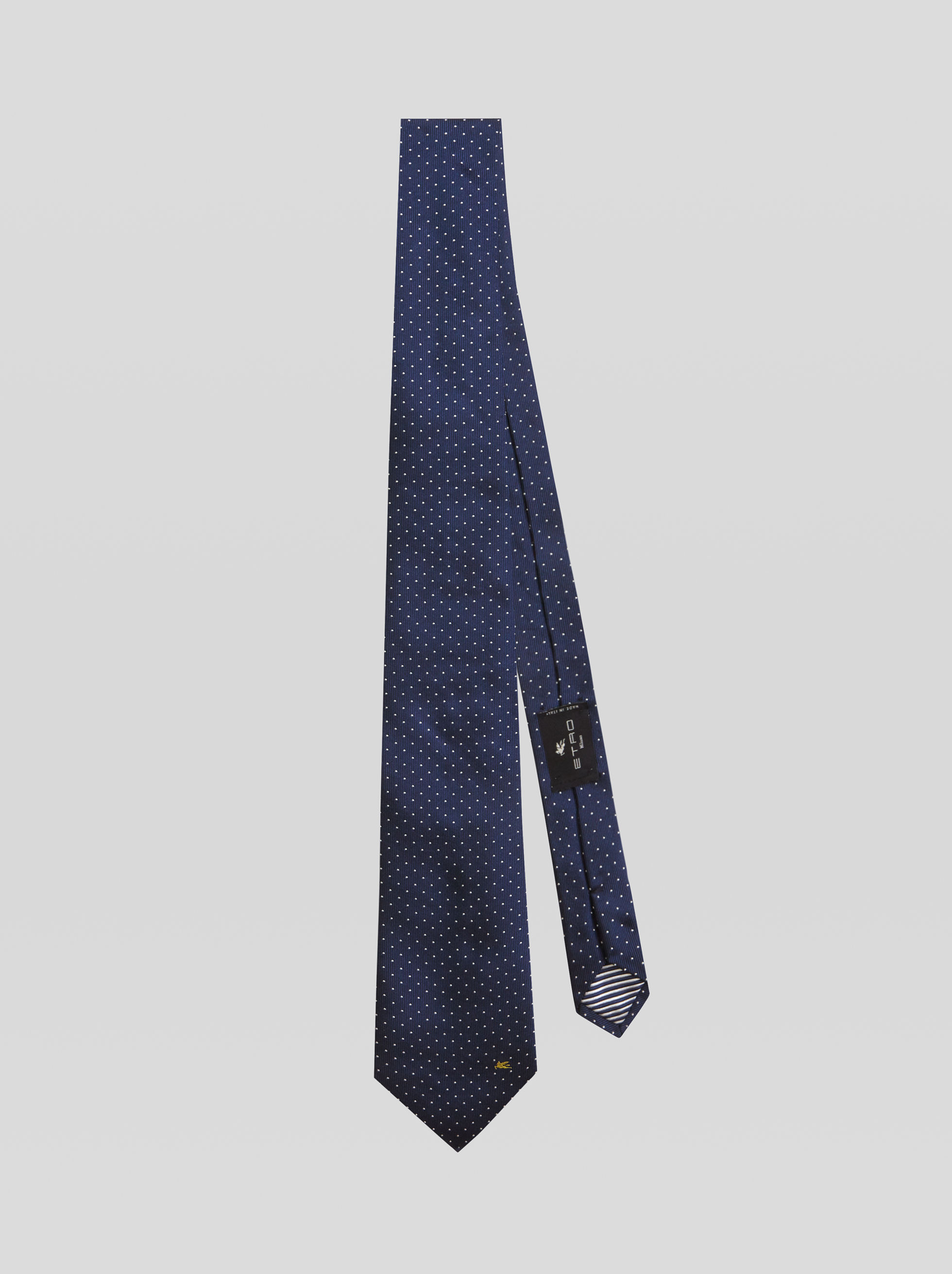DOTTED JACQUARD TIE WITH PEGASO