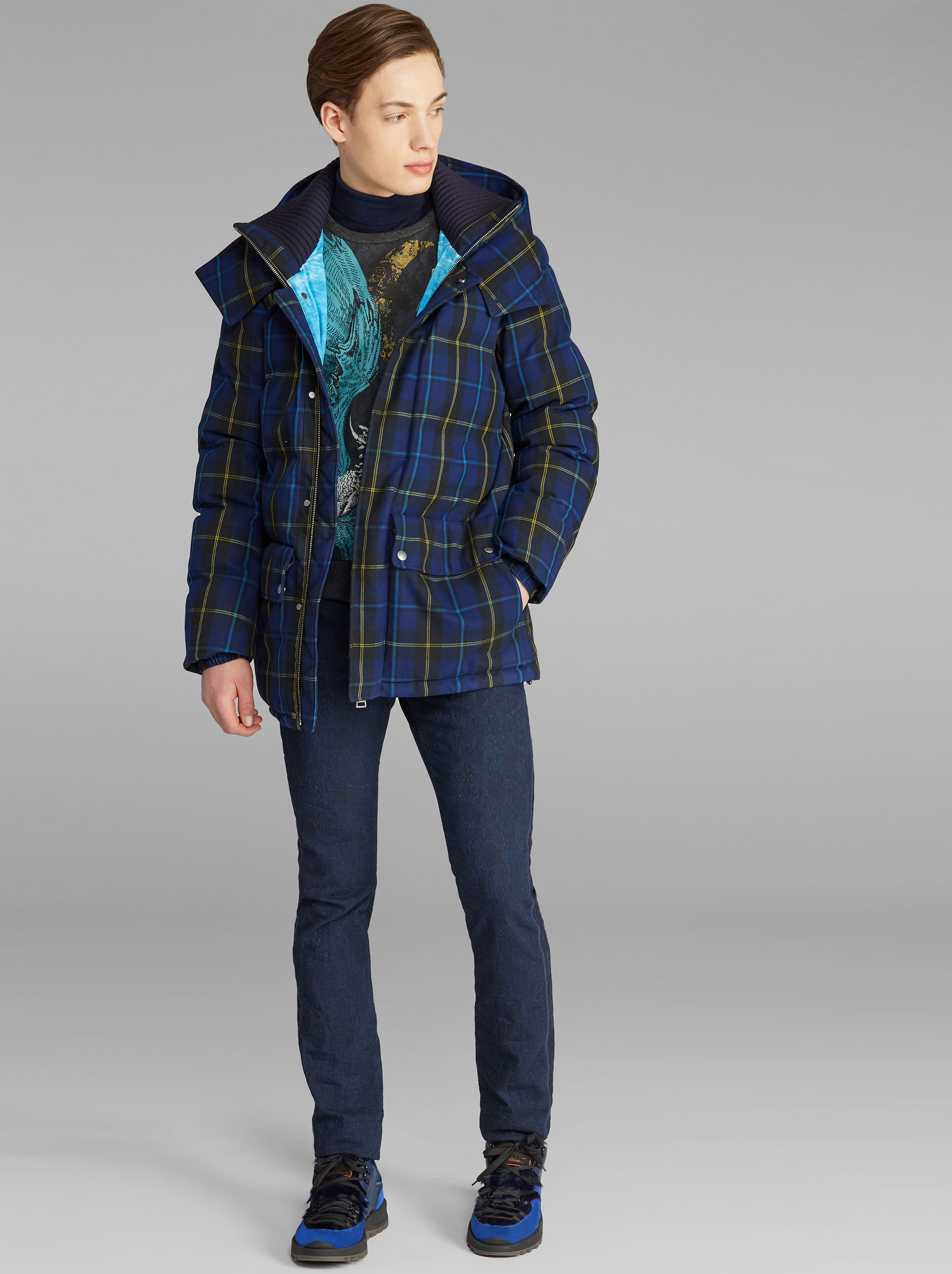 BENETROESSERE CHECK JACKET