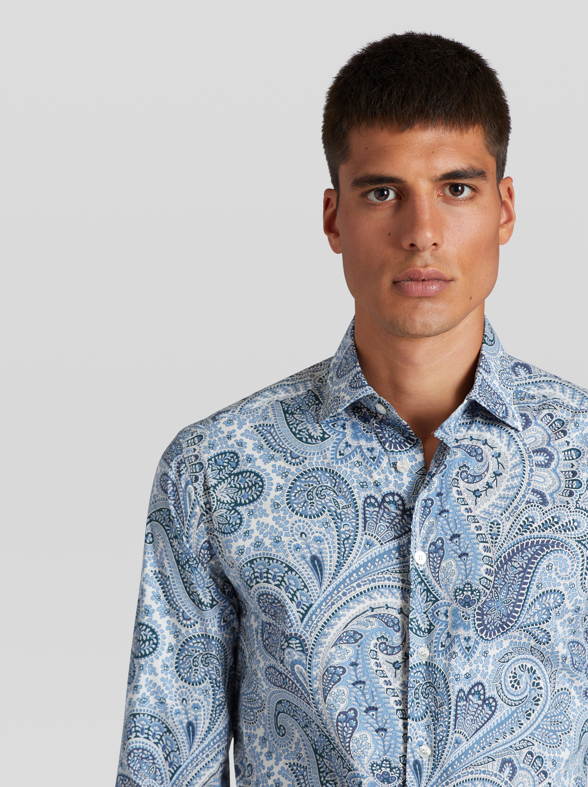 COTTON SHIRT WITH PAISLEY PRINT
