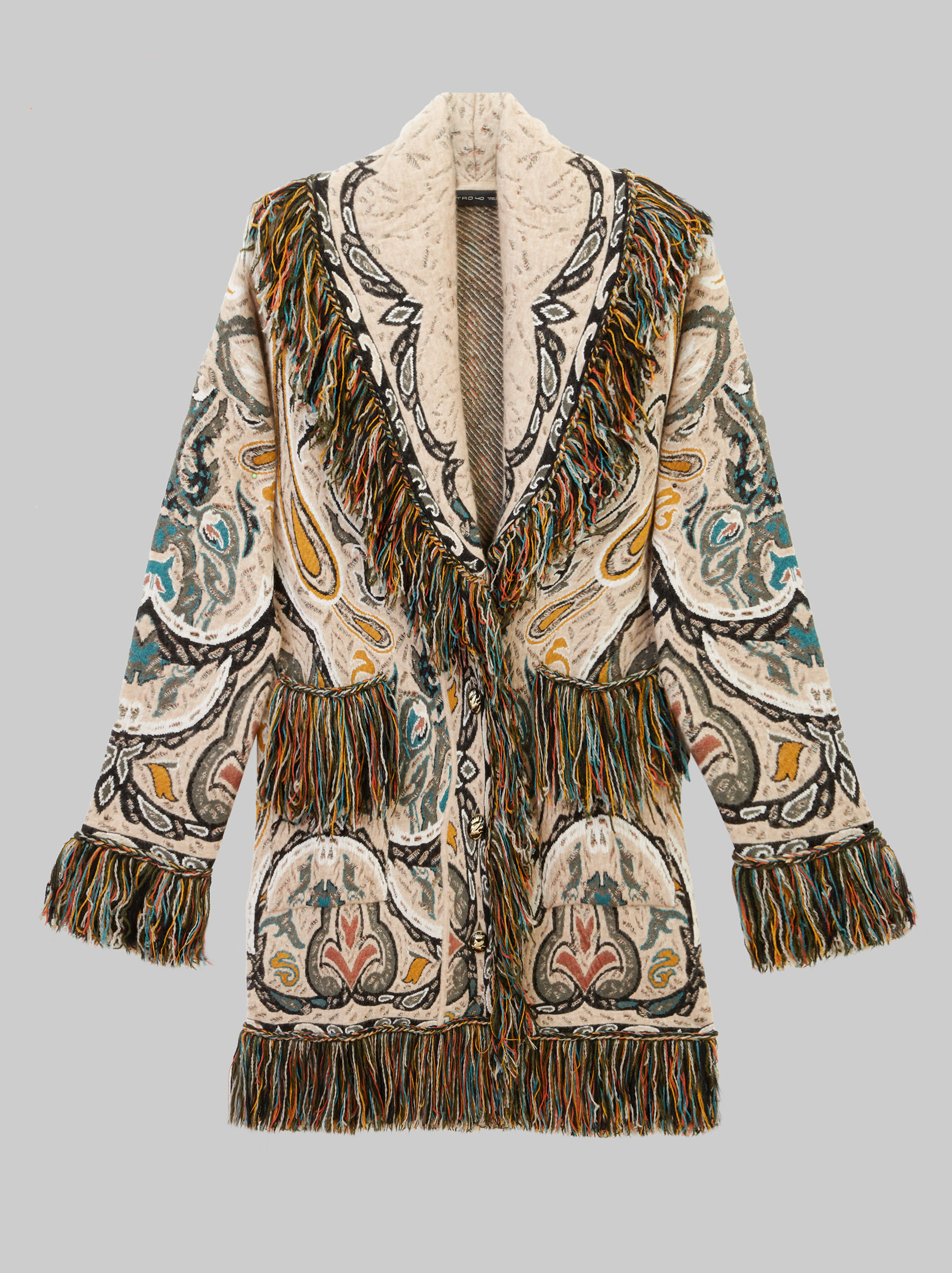 JACQUARD KNITTED COAT