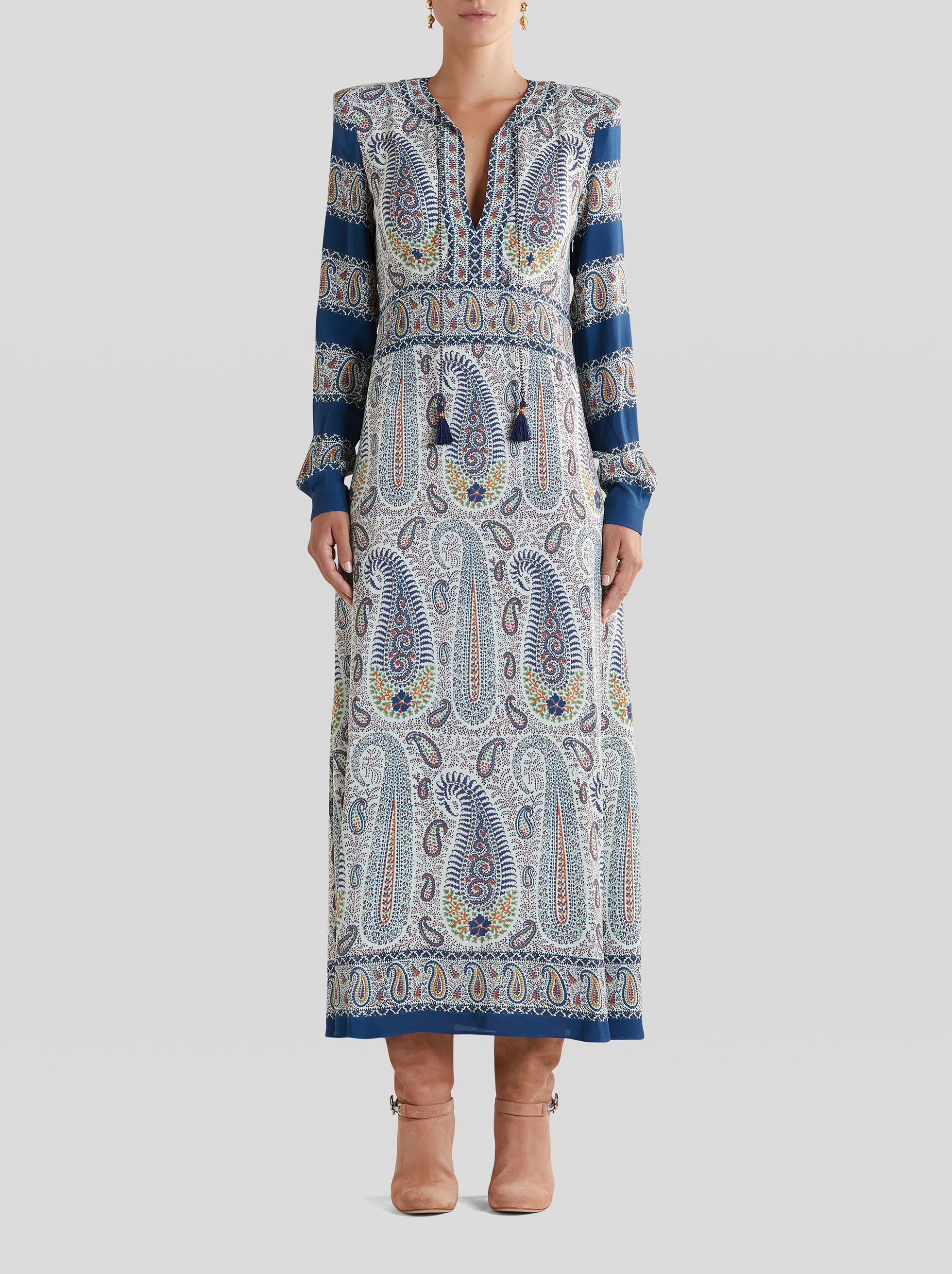 MOSAIC PAISLEY PRINT DRESS
