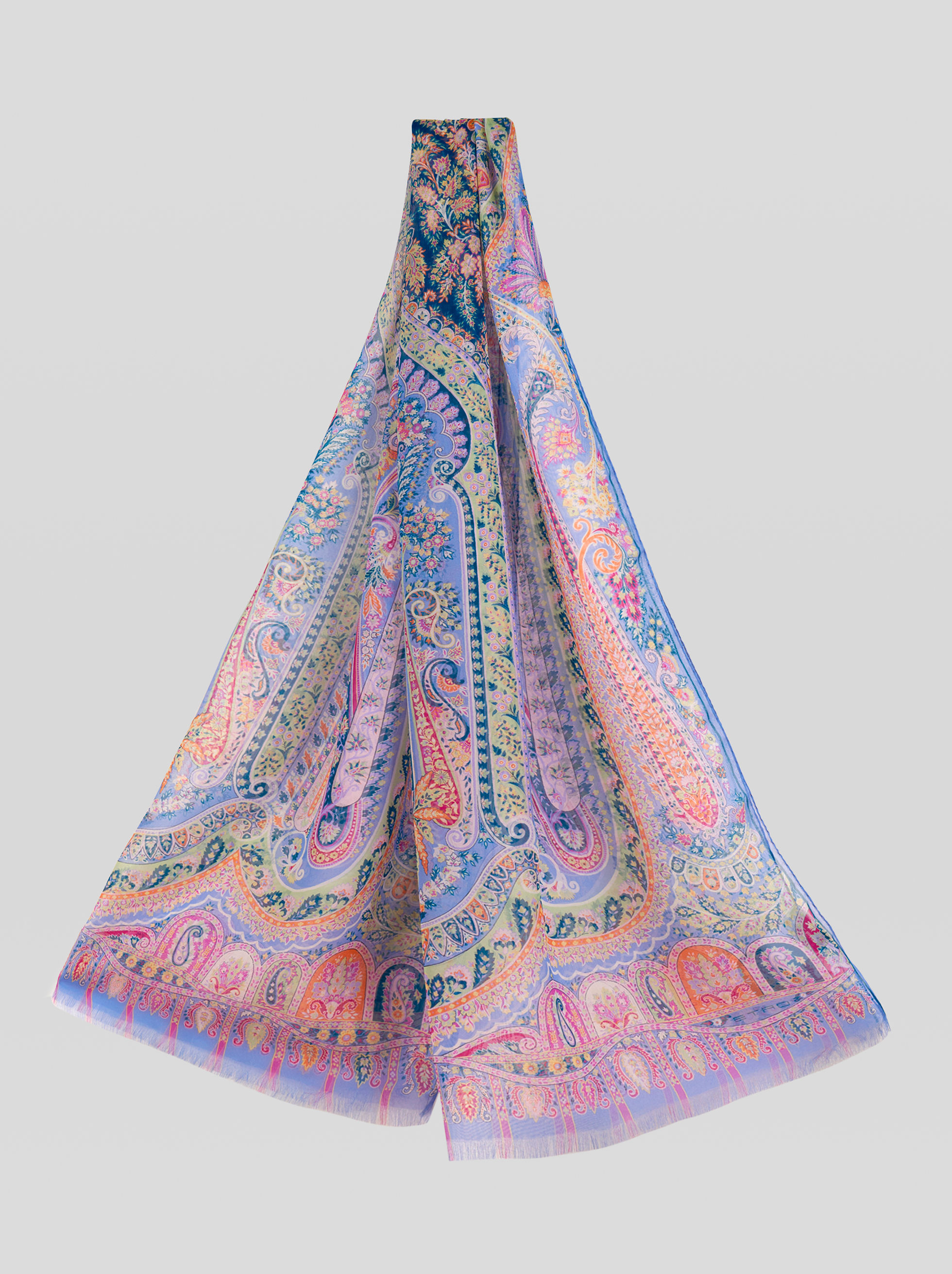 FLORAL PAISLEY SILK SCARF