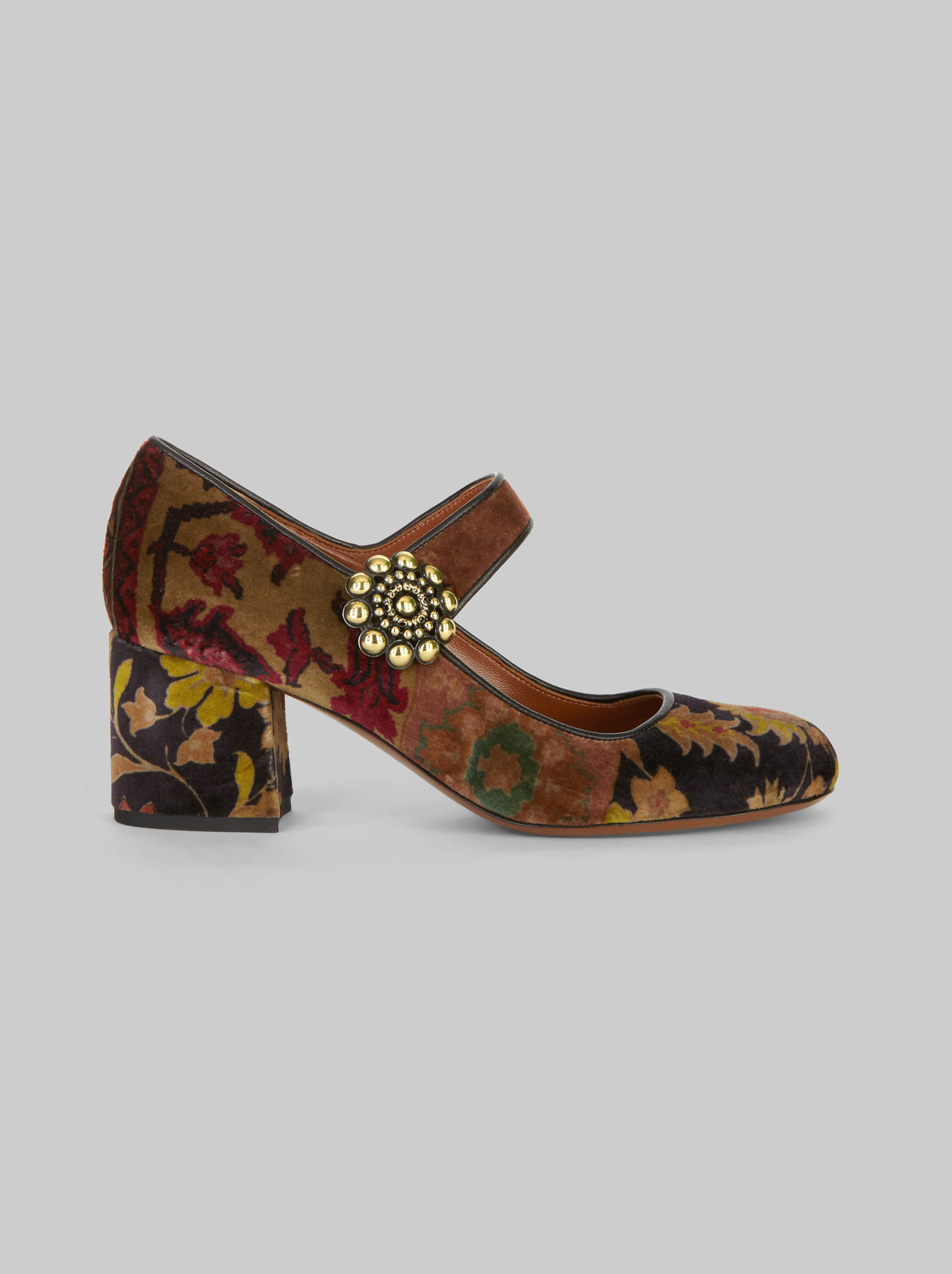 CARPET-PRINT MARY JANES