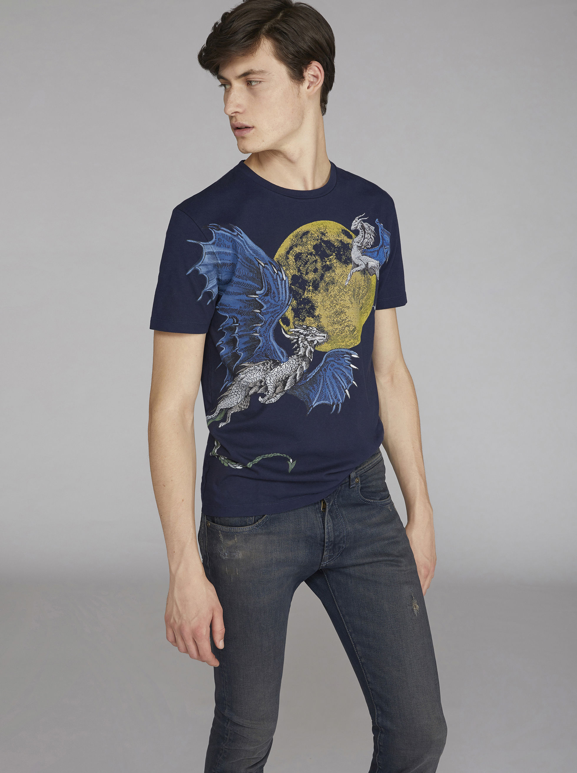 DRAGON-PRINT T-SHIRT