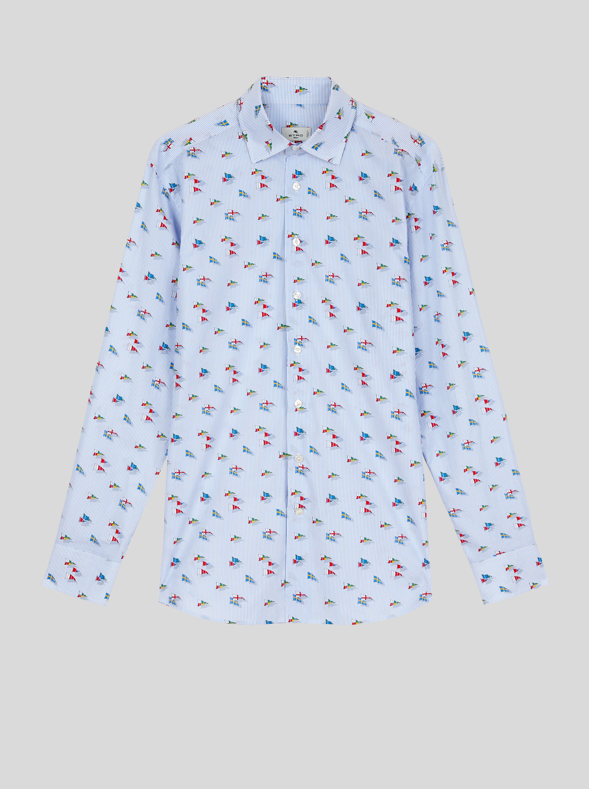 FLAG PRINT COTTON SHIRT