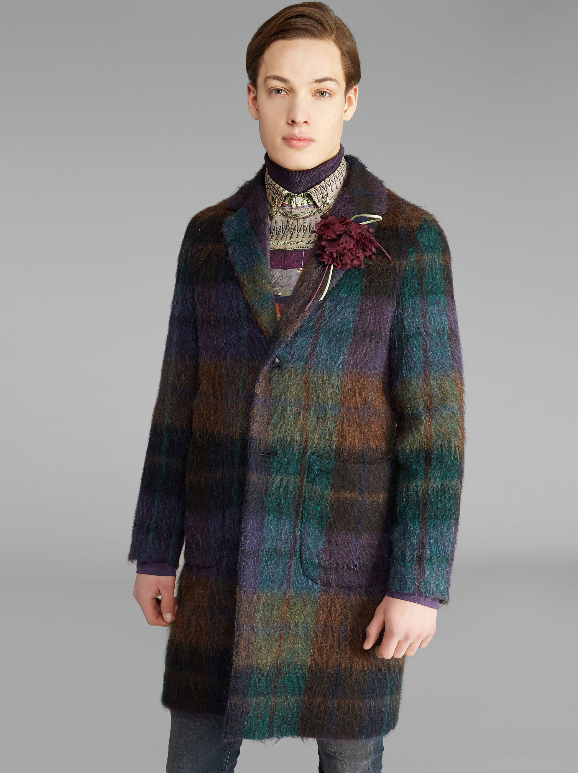 DECONSTRUCTED CHECK COAT