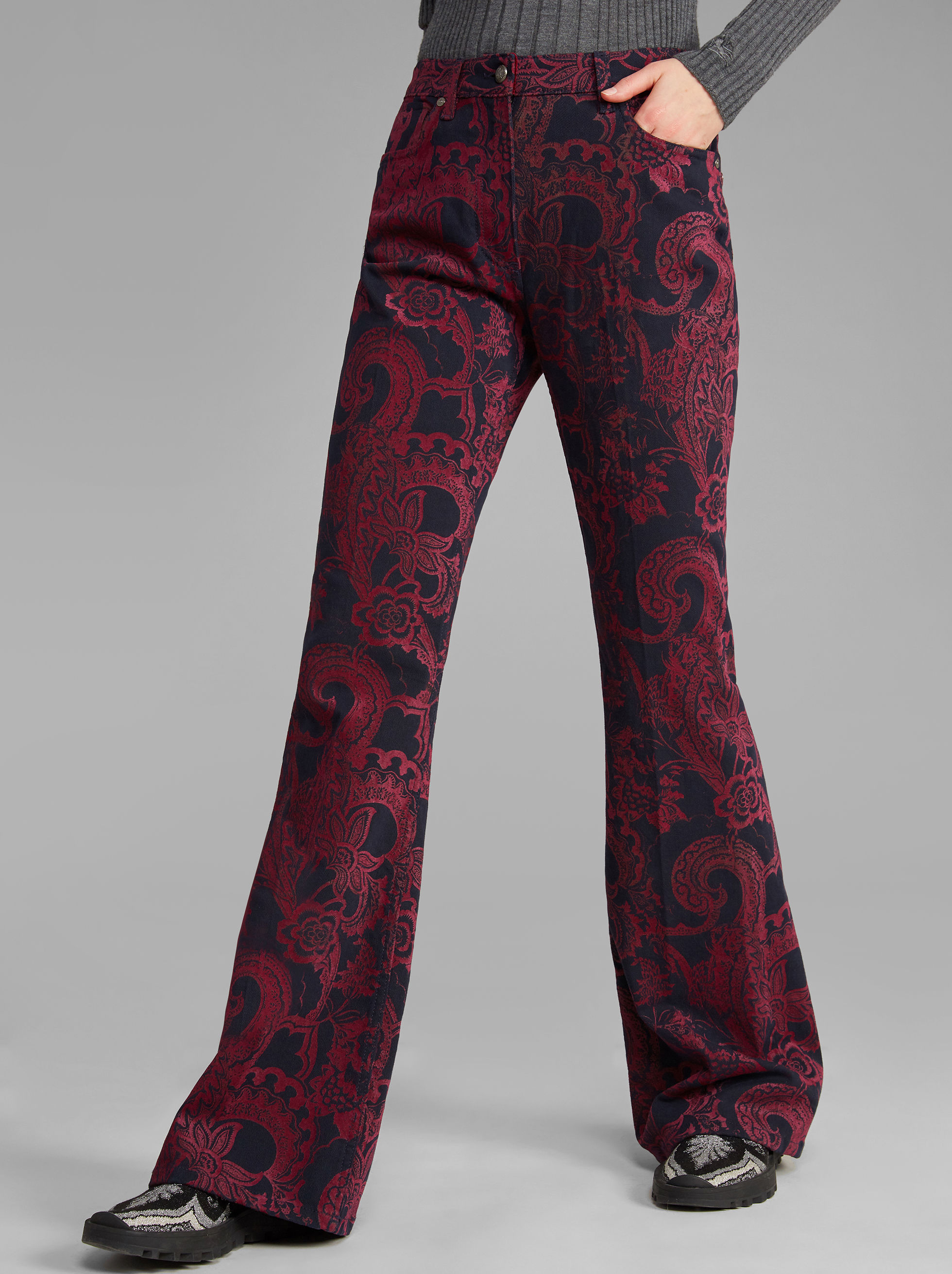 JEANS STAMPA PAISLEY FLOREALE