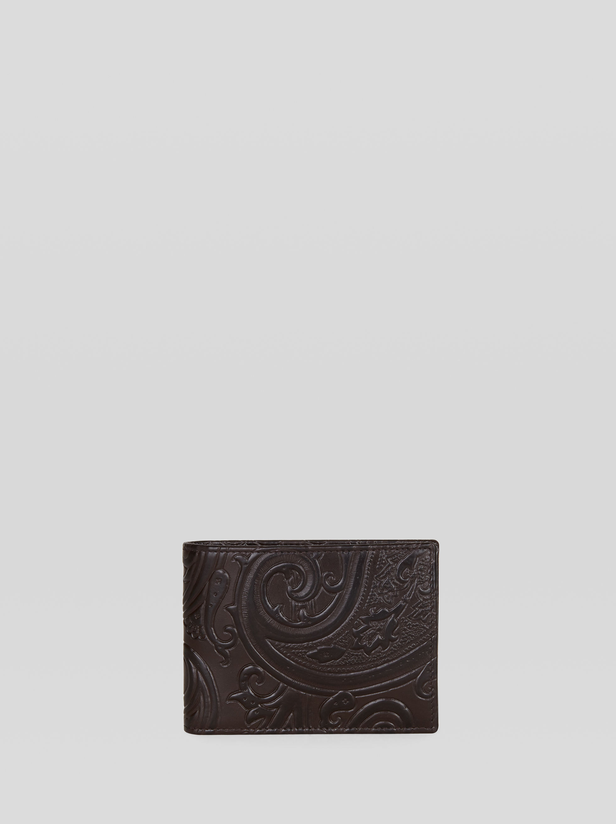 PAISLEY PRINT LEATHER WALLET