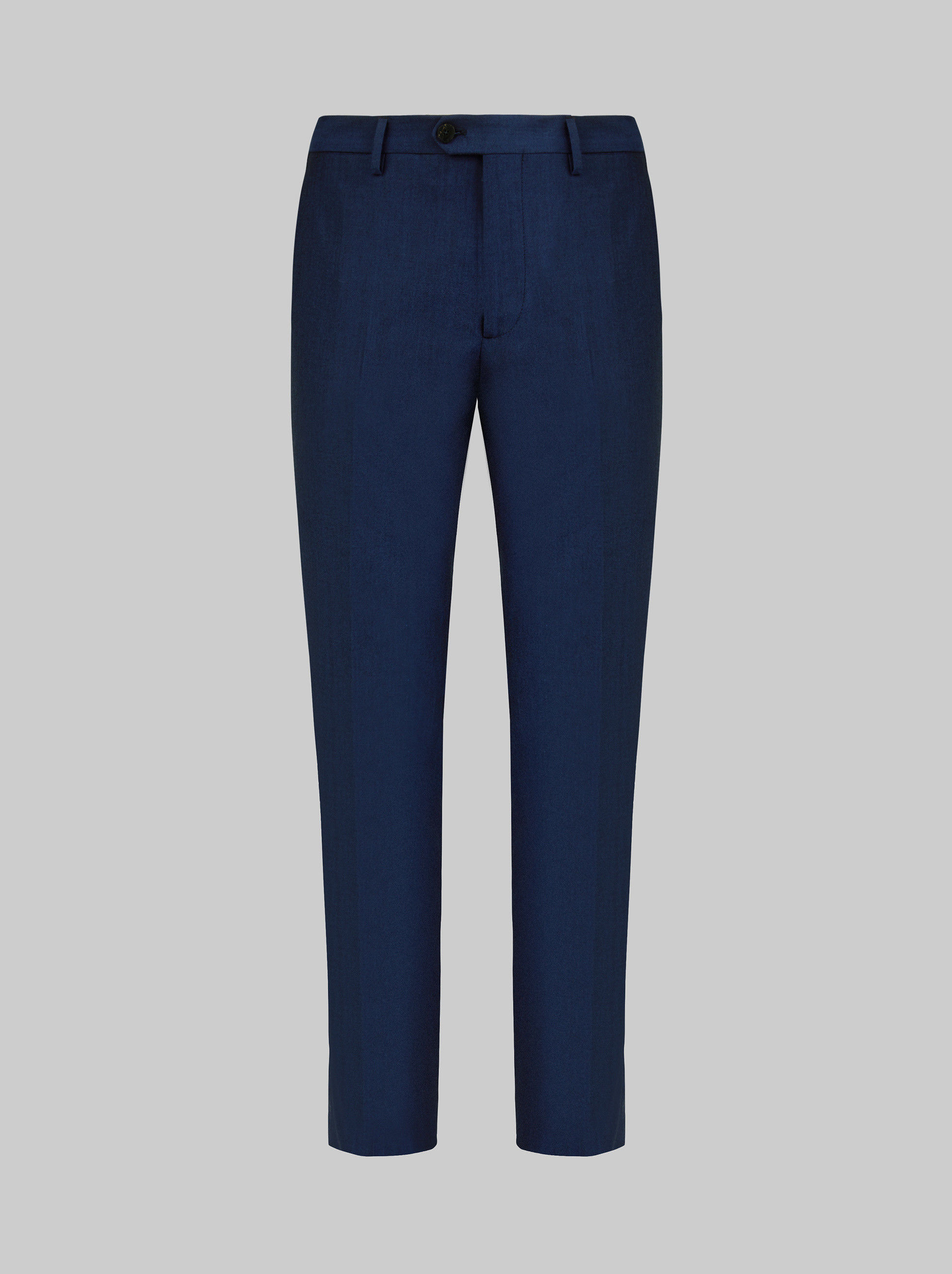 COTTON AND WOOL TAILORED TROUSERS