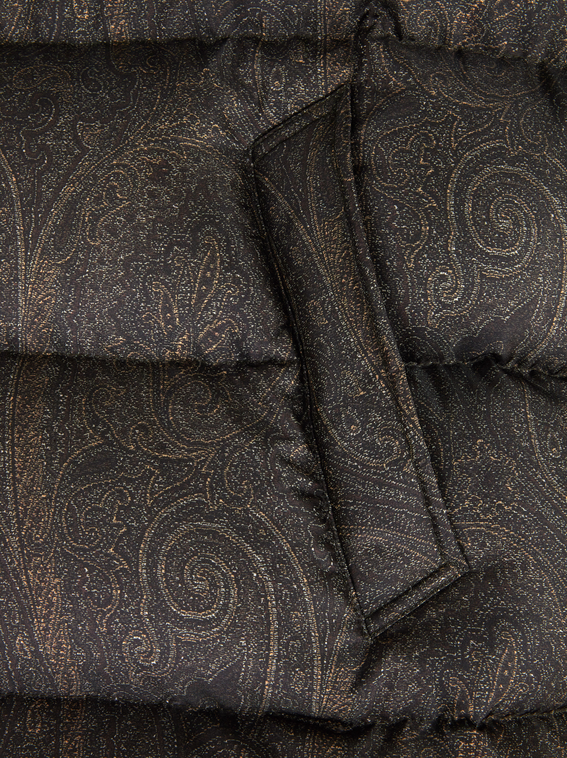 BENETROESSERE DOWN JACKET WITH PAISLEY PRINT