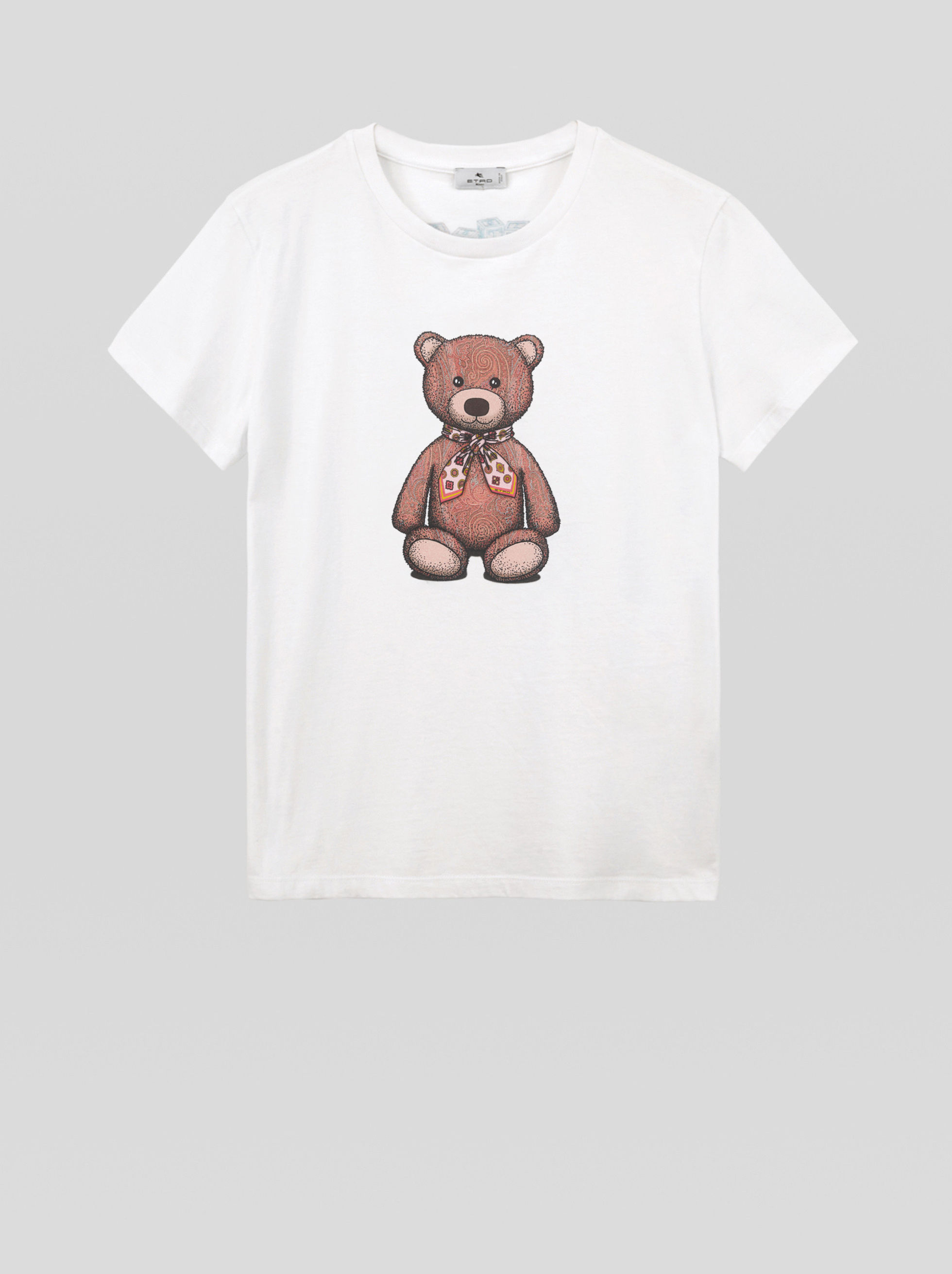 T-SHIRT WITH PAISLEY TEDDY BEAR