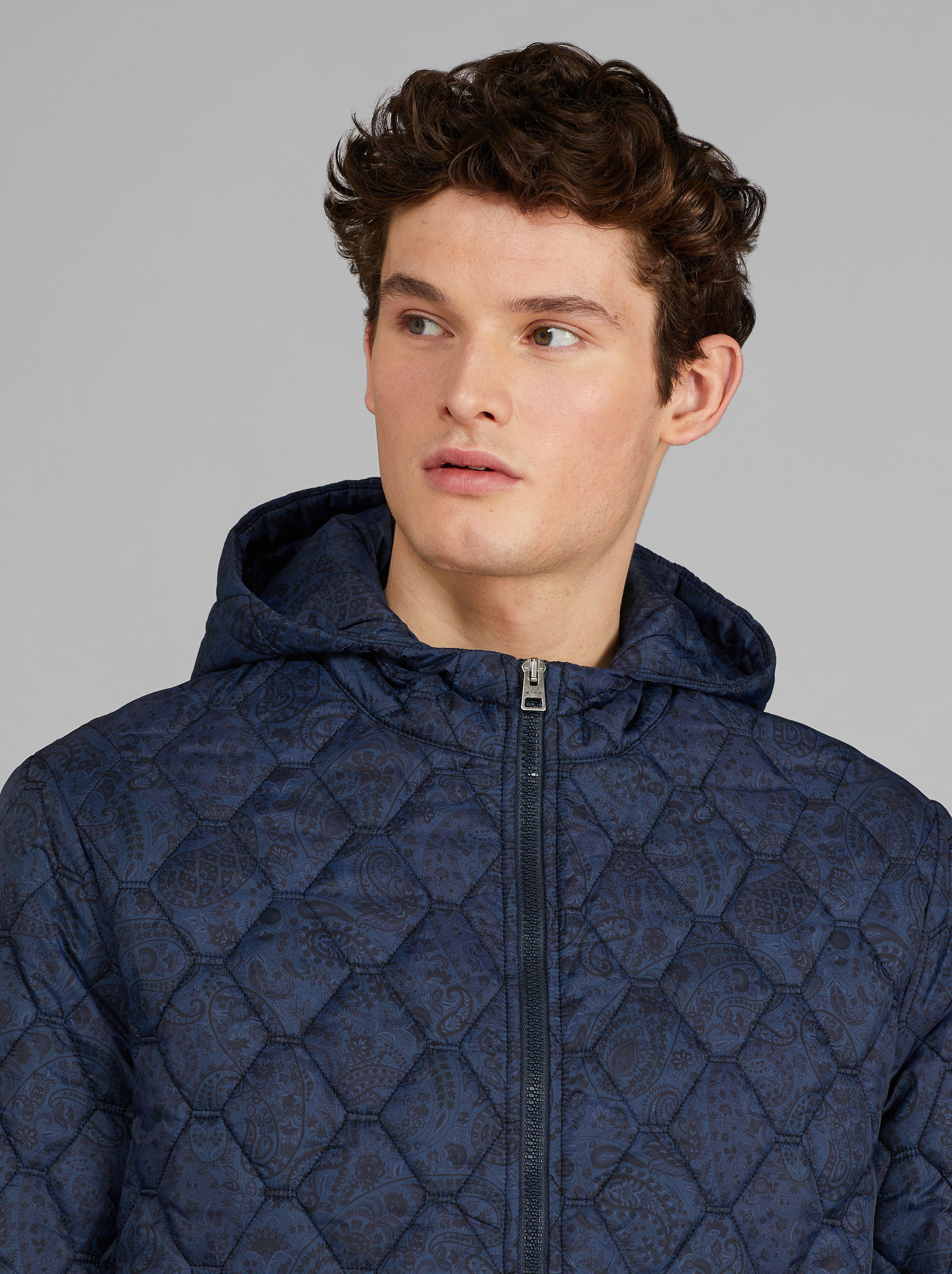 PAISLEY PATTERN NYLON JACKET